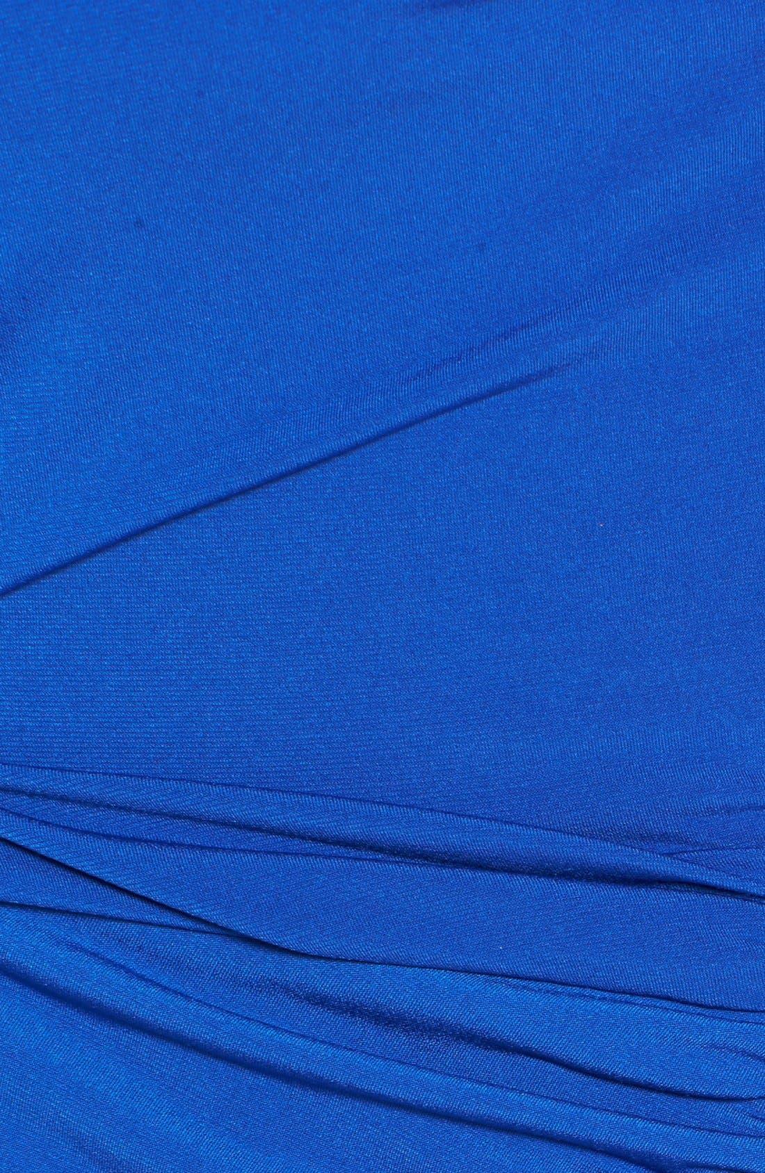 Alternate Image 3  - Calvin Sequin Beaded Shoulder Matte Jersey Sheath Dress (Plus Size)
