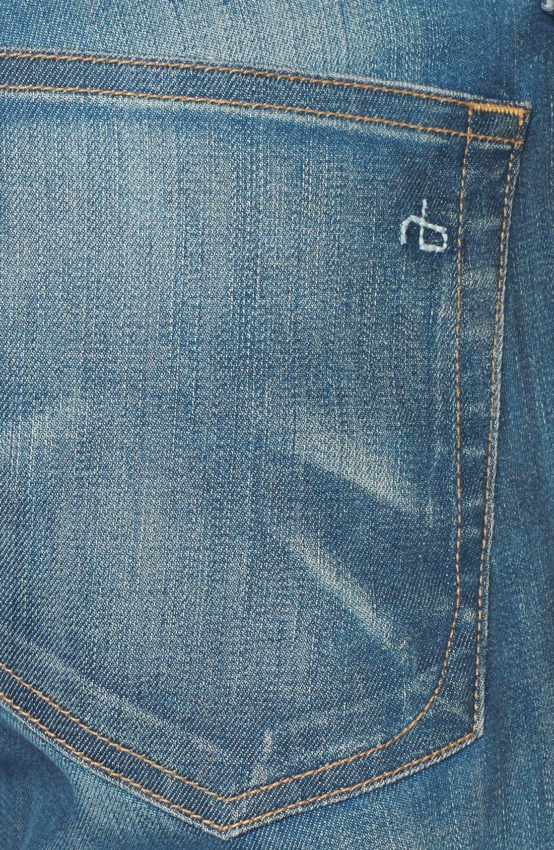 Alternate Image 3  - rag & bone/JEAN 'Dre' Boyfriend Skinny Jeans (Cannon)