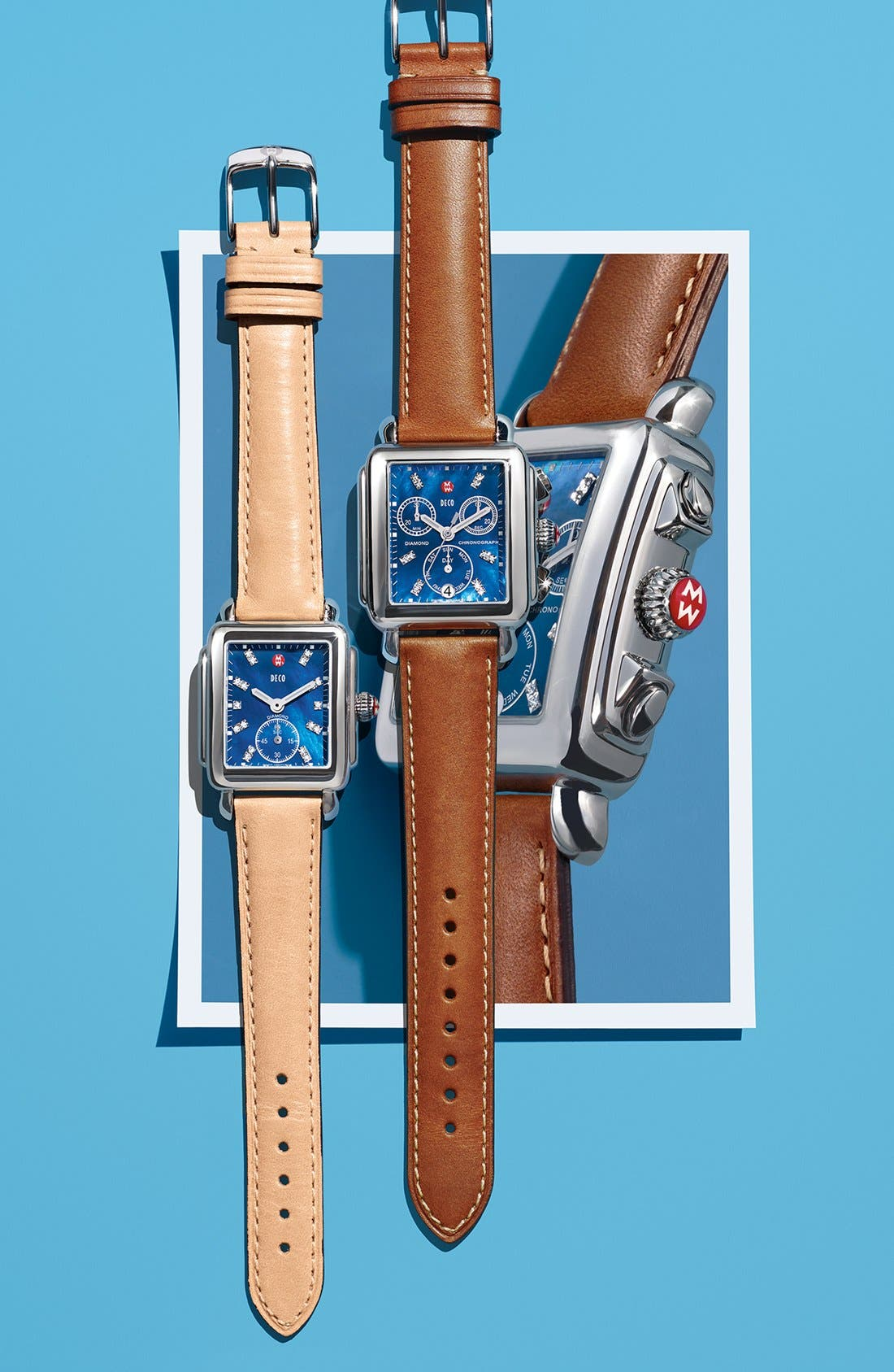 18mm Leather Watch Strap,                             Alternate thumbnail 3, color,