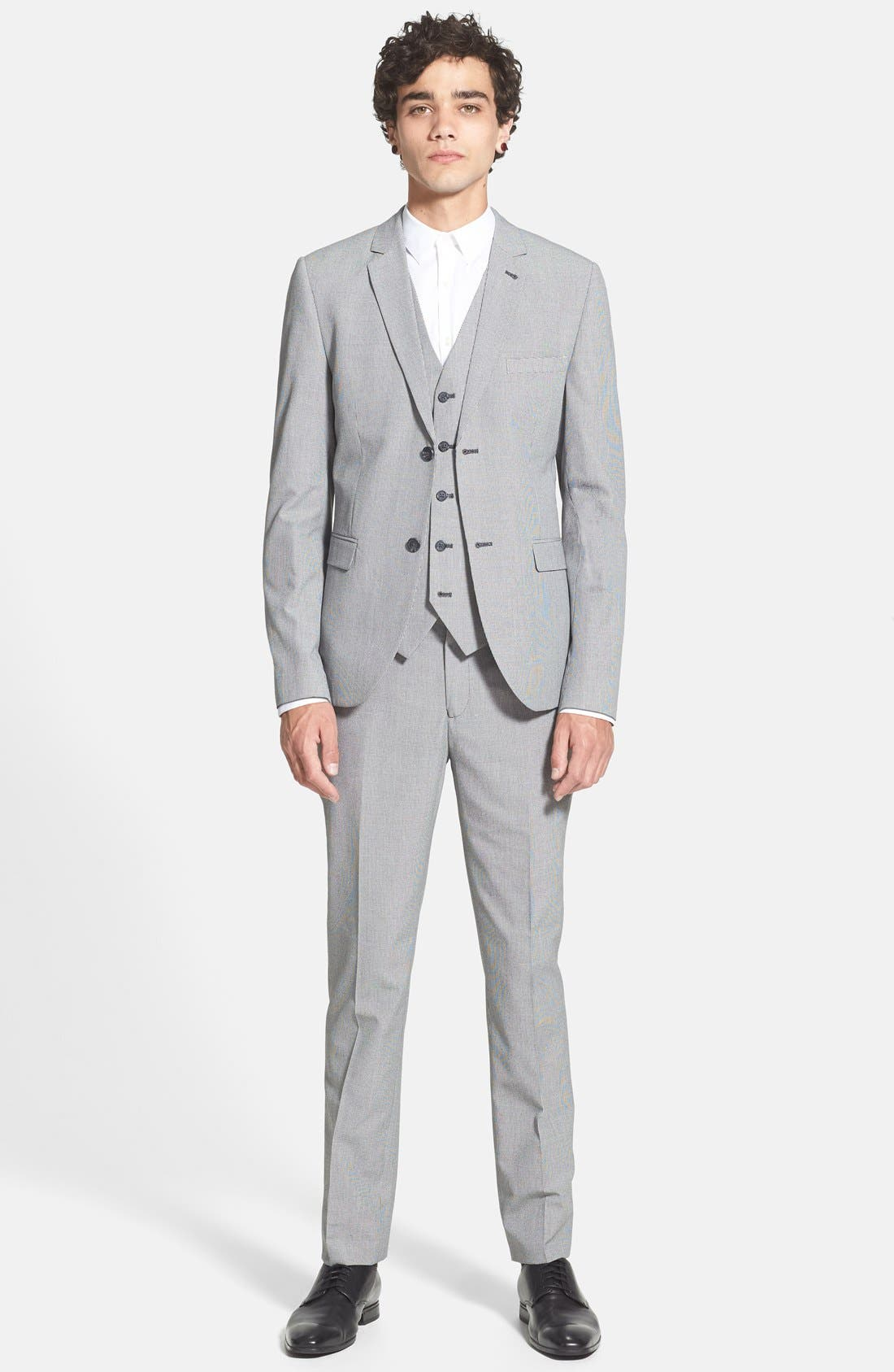 Alternate Image 4  - Topman Skinny Fit Micro Houndstooth Suit Jacket