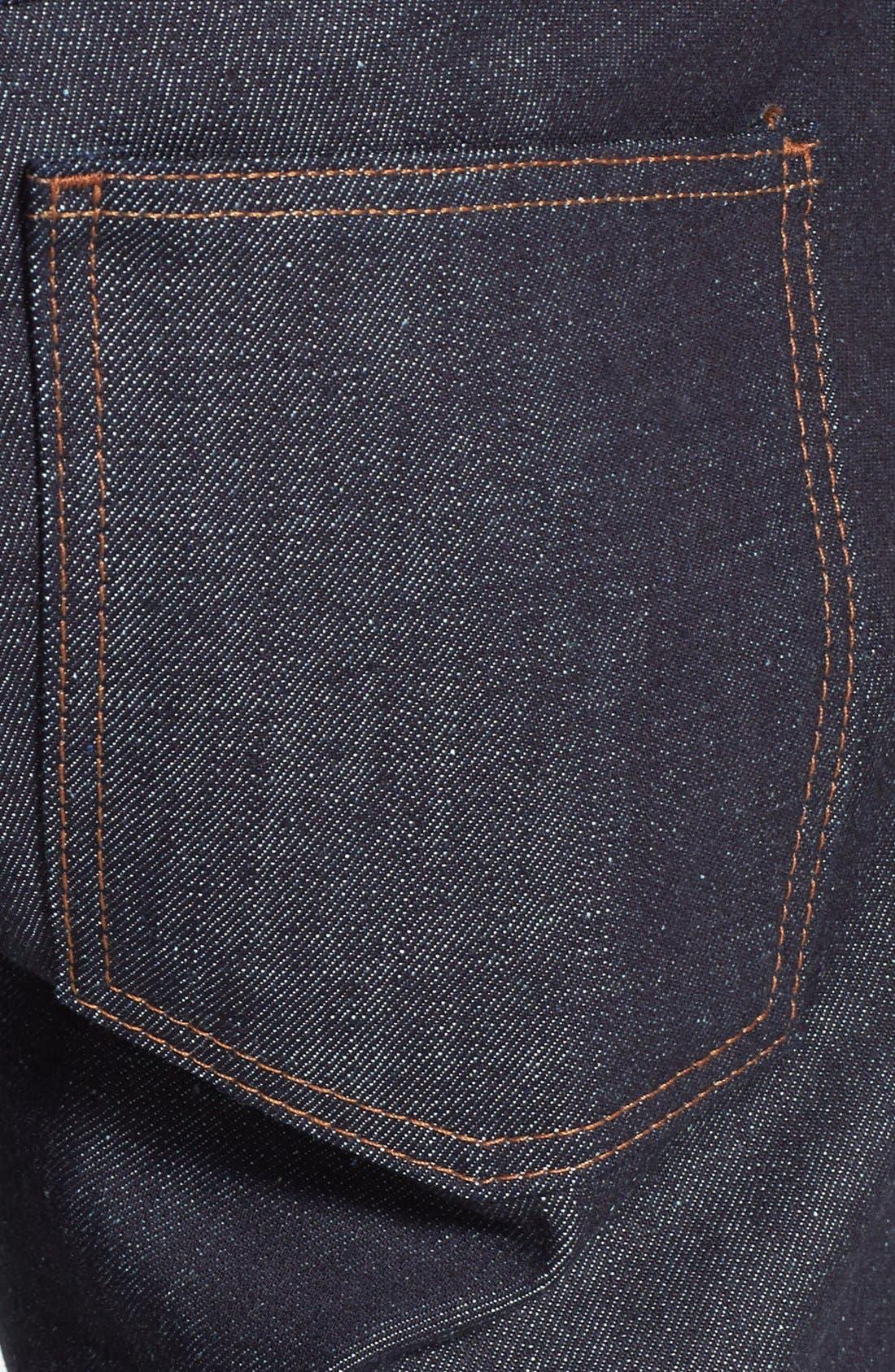 Alternate Image 4  - Naked & Famous Denim 'Slim Guy' Straight Leg Jeans (Indigo) (Online Only)