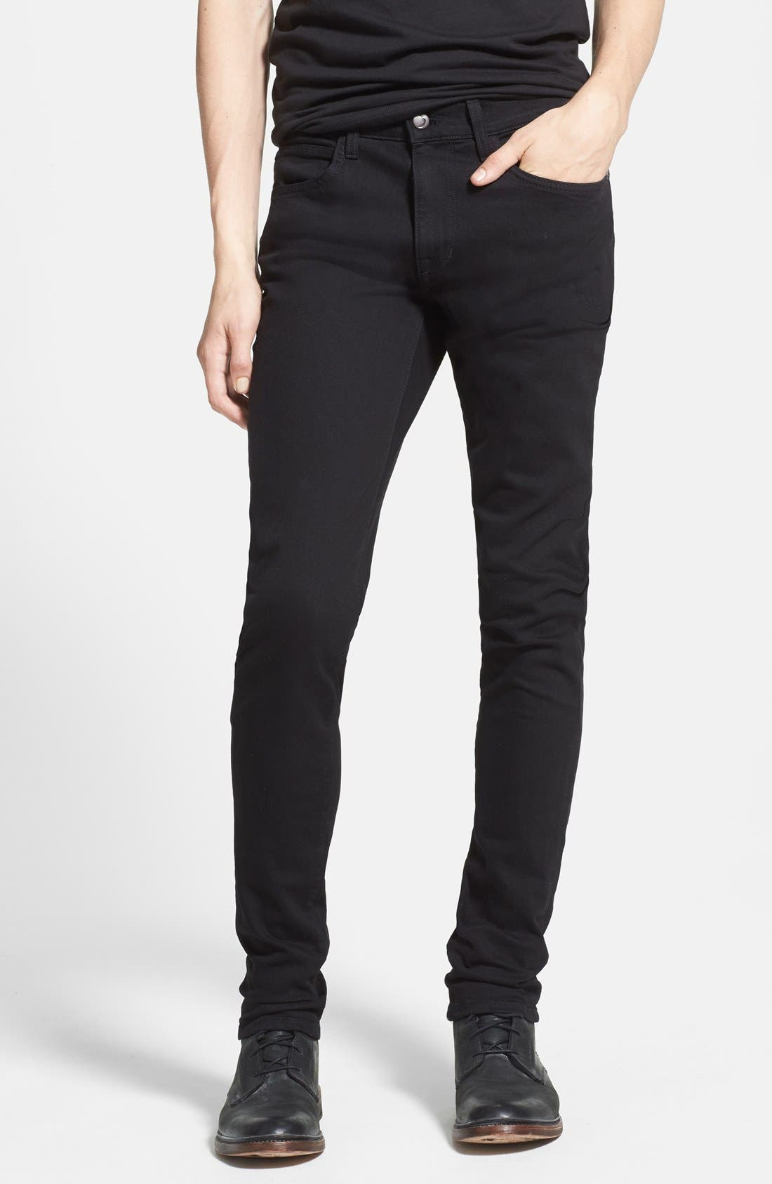 Alternate Image 1 Selected - Joe's 'Slim' Skinny Fit Jeans (Jet Black)
