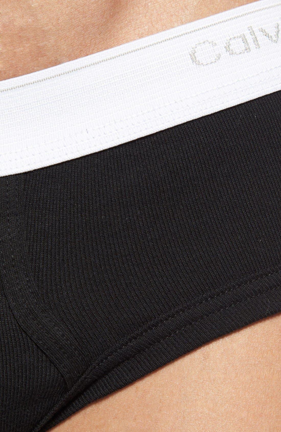 Alternate Image 3  - Calvin Klein 'U1183' Low Rise Cotton Briefs (3-Pack)