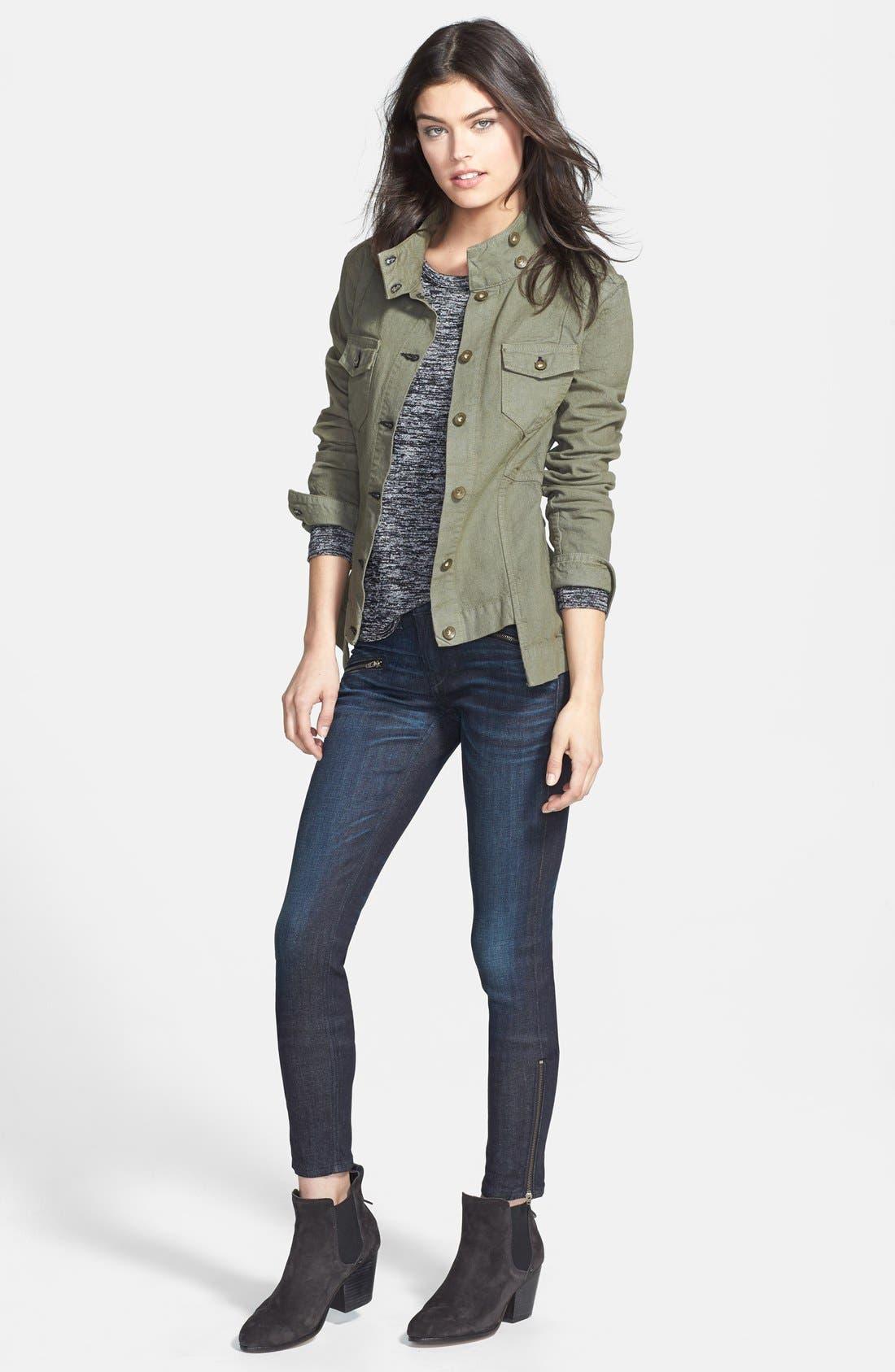 Alternate Image 5  - rag & bone/JEAN Zip Detail Skinny Jeans (Kensington) (Nordstrom Exclusive)