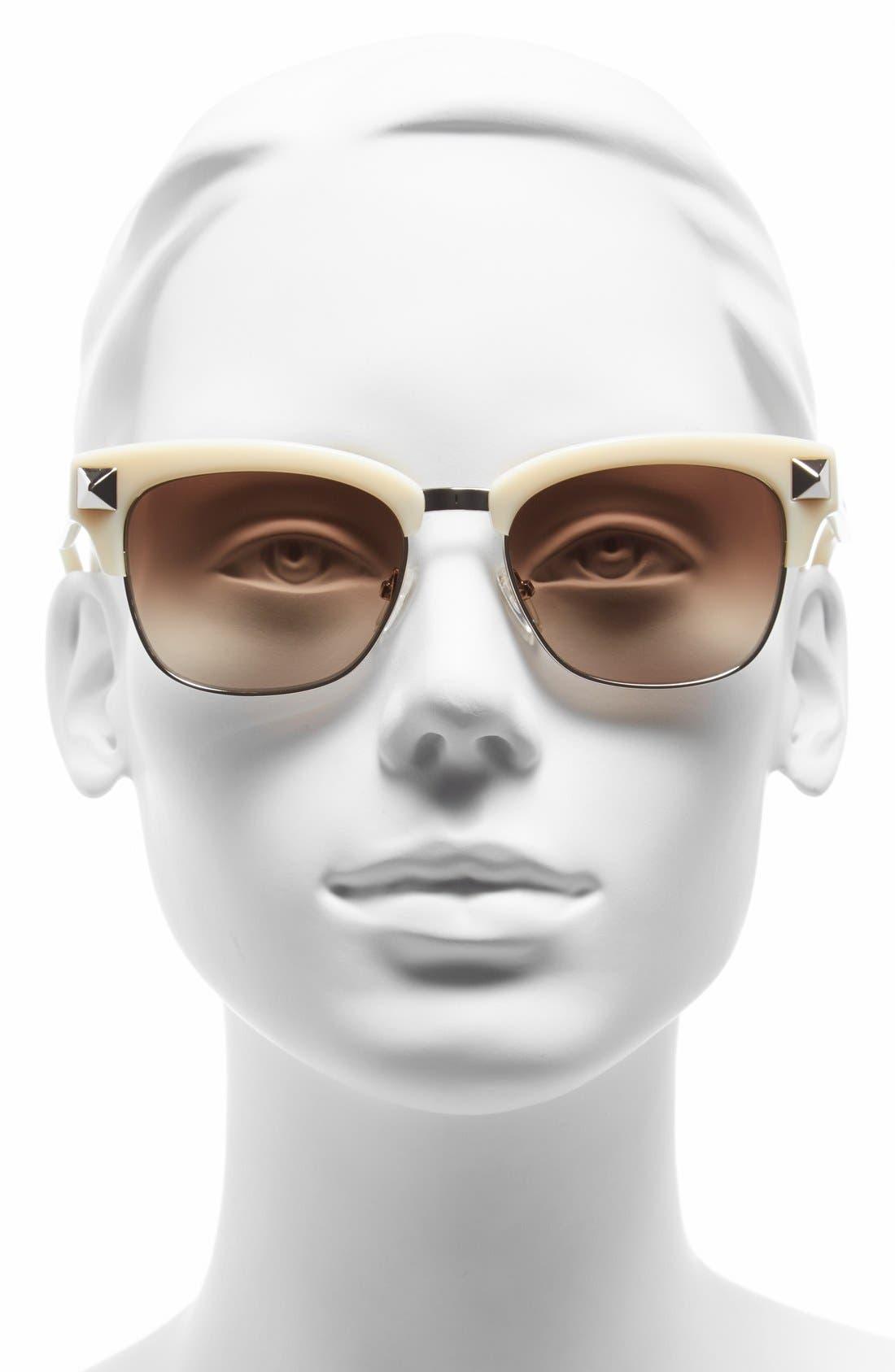 Alternate Image 2  - Valentino 'Rockstud' 53mm Sunglasses