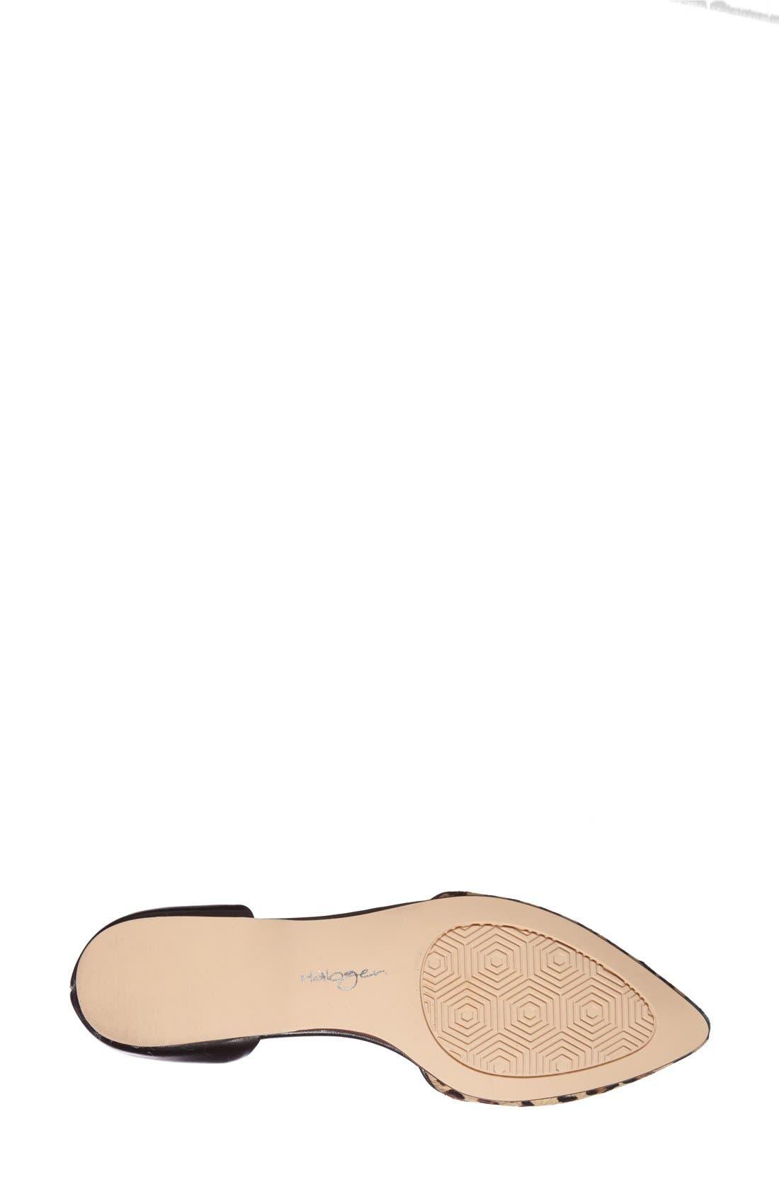 Alternate Image 4  - Halogen® 'Kayla' Leather & Calf Hair Pointy Toe Flat