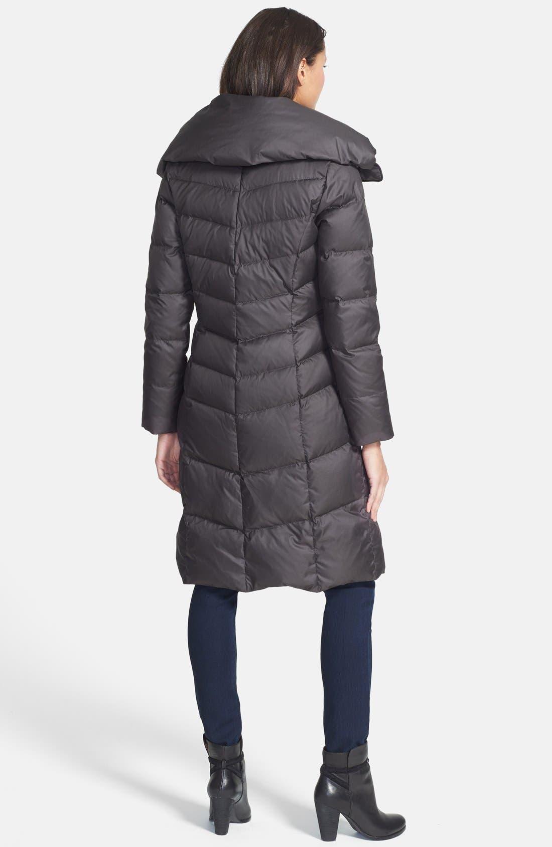 Alternate Image 2  - Cole Haan Oversize Collar Packable Long Down Coat