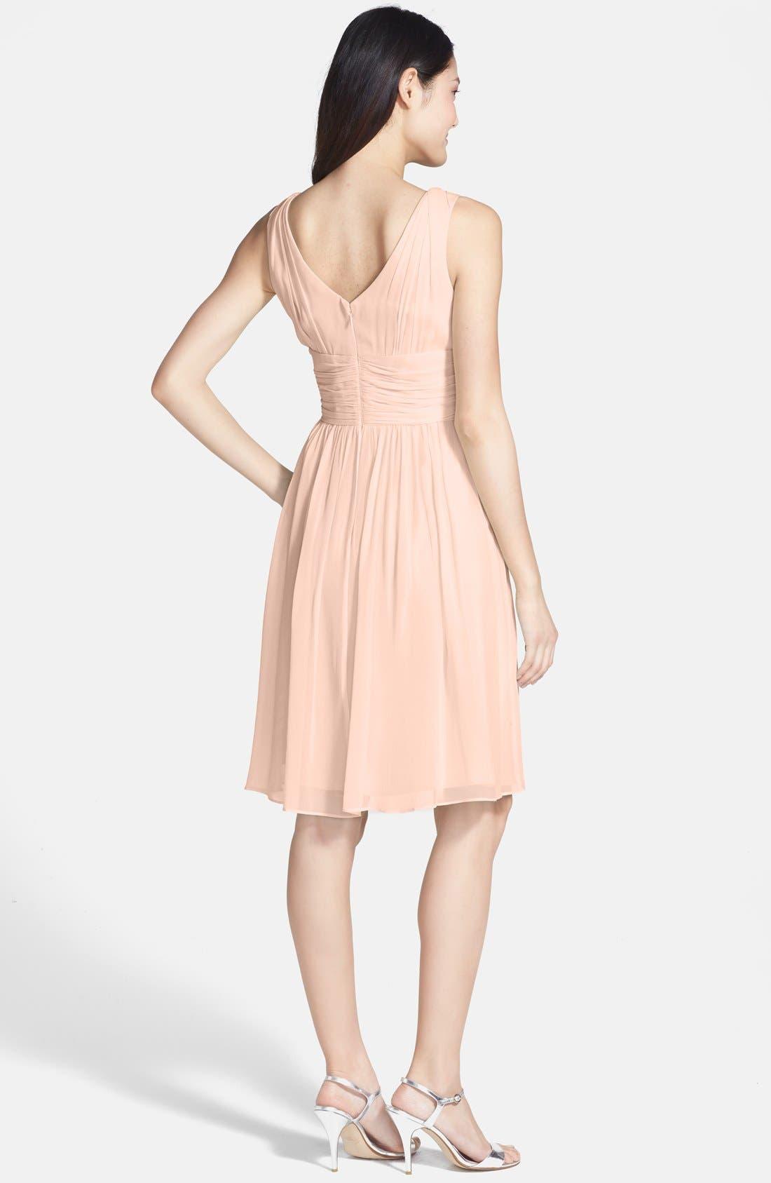 Alternate Image 2  - Donna Morgan 'Jessie' Twist Waist Chiffon Dress