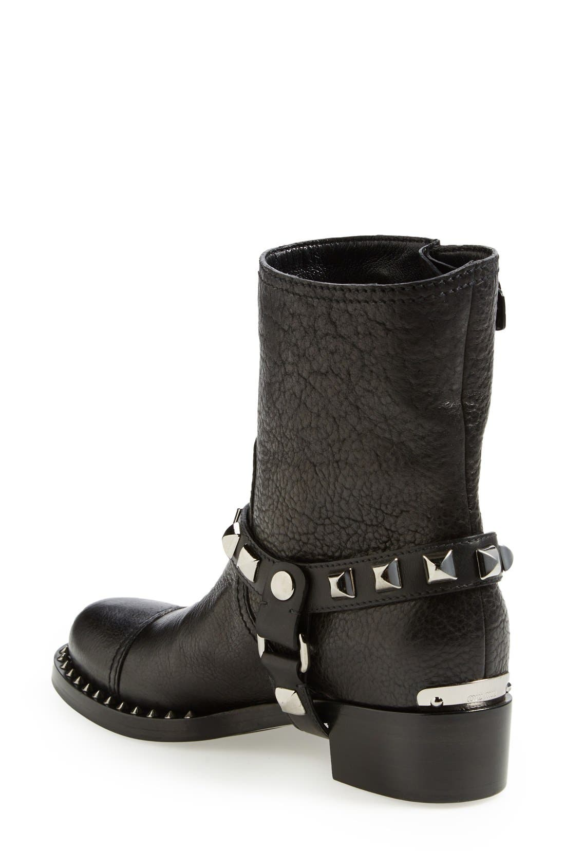 Alternate Image 2  - Miu Miu Studded Harness Moto Boot (Women)