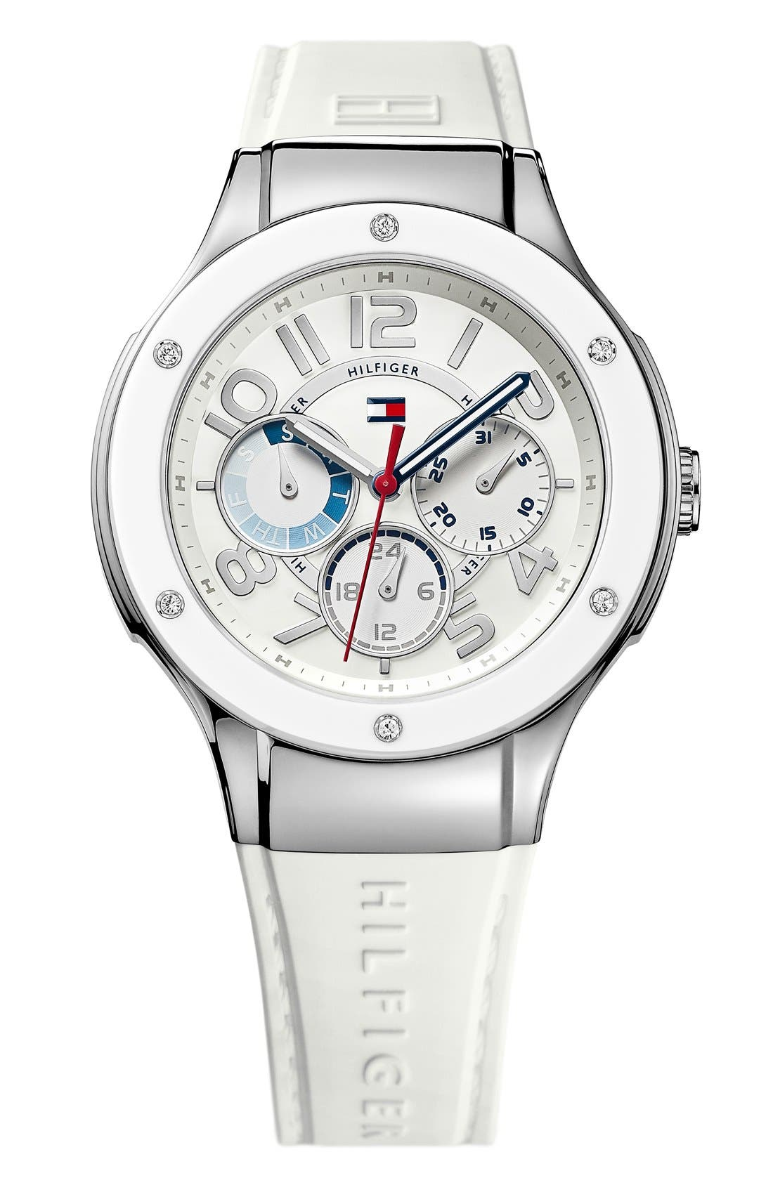 Alternate Image 1 Selected - Tommy Hilfiger Multifunction Silicone Strap Watch, 39mm