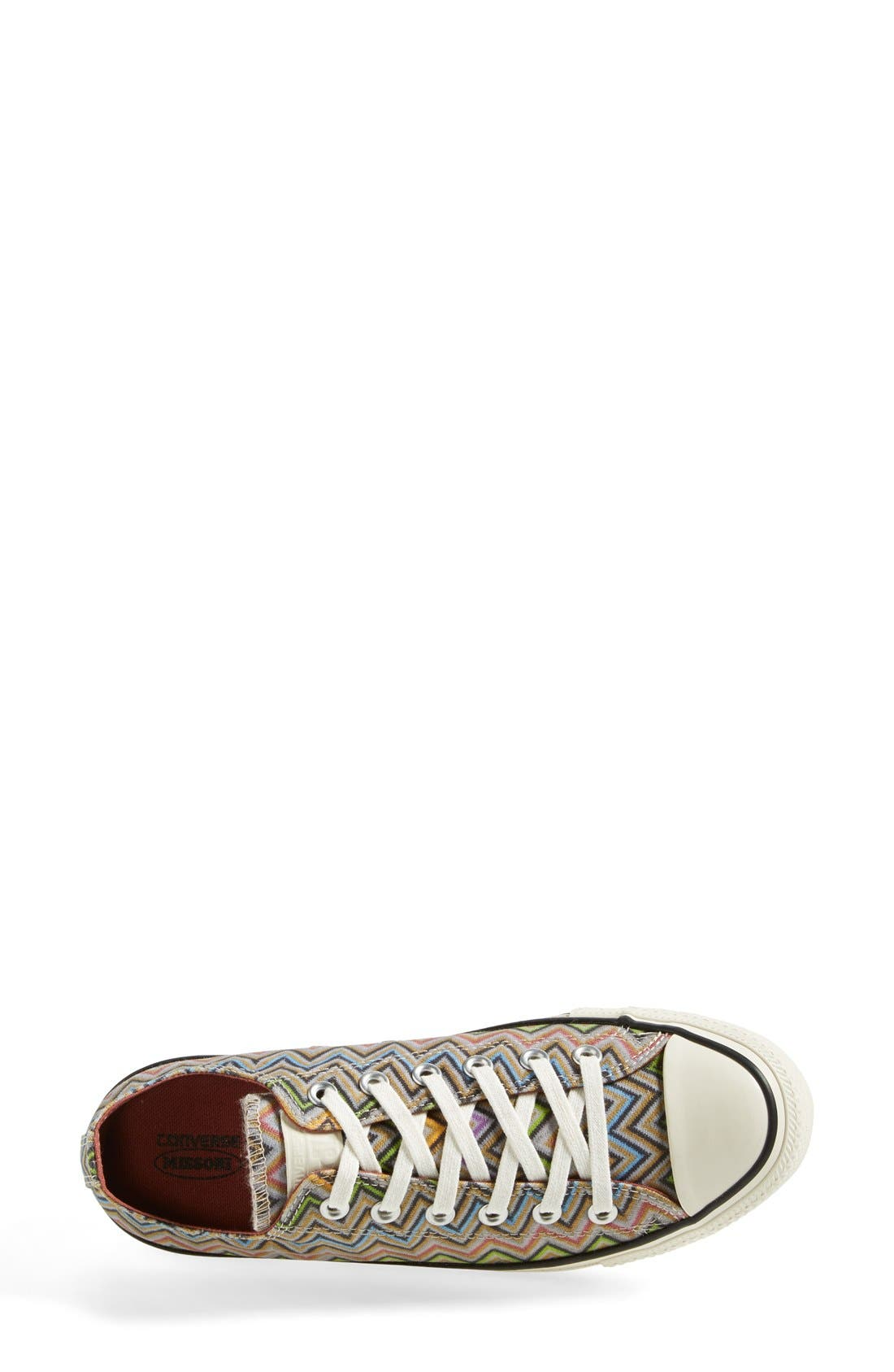 x Missoni Chuck Taylor<sup>®</sup> All Star<sup>®</sup> Low Sneaker,                             Alternate thumbnail 3, color,                             Lucky Stone/ Egret
