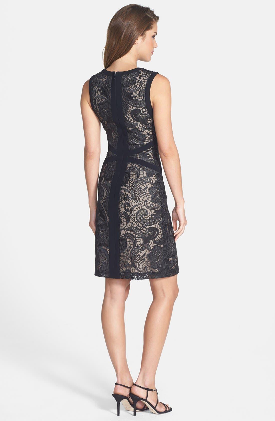 Alternate Image 2  - ML Monique Lhuillier Lace Sheath Dress