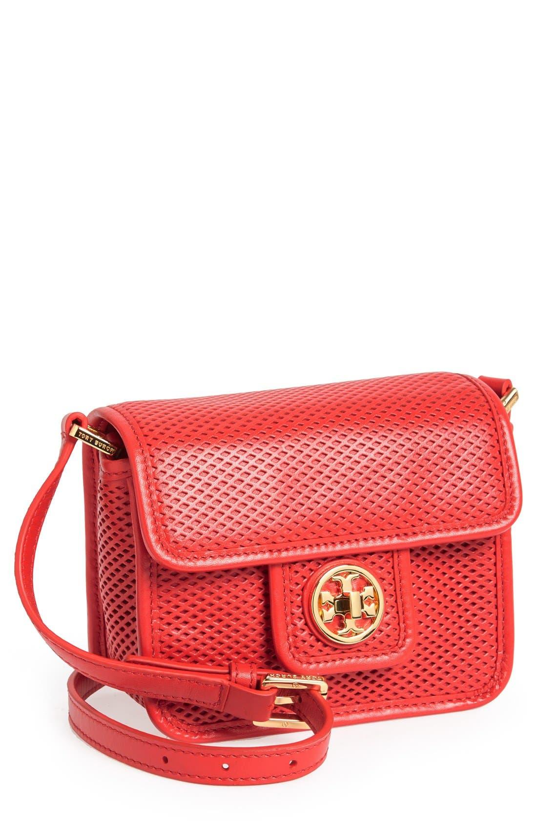 Main Image - Tory Burch 'Mini Harper' Leather Crossbody Bag