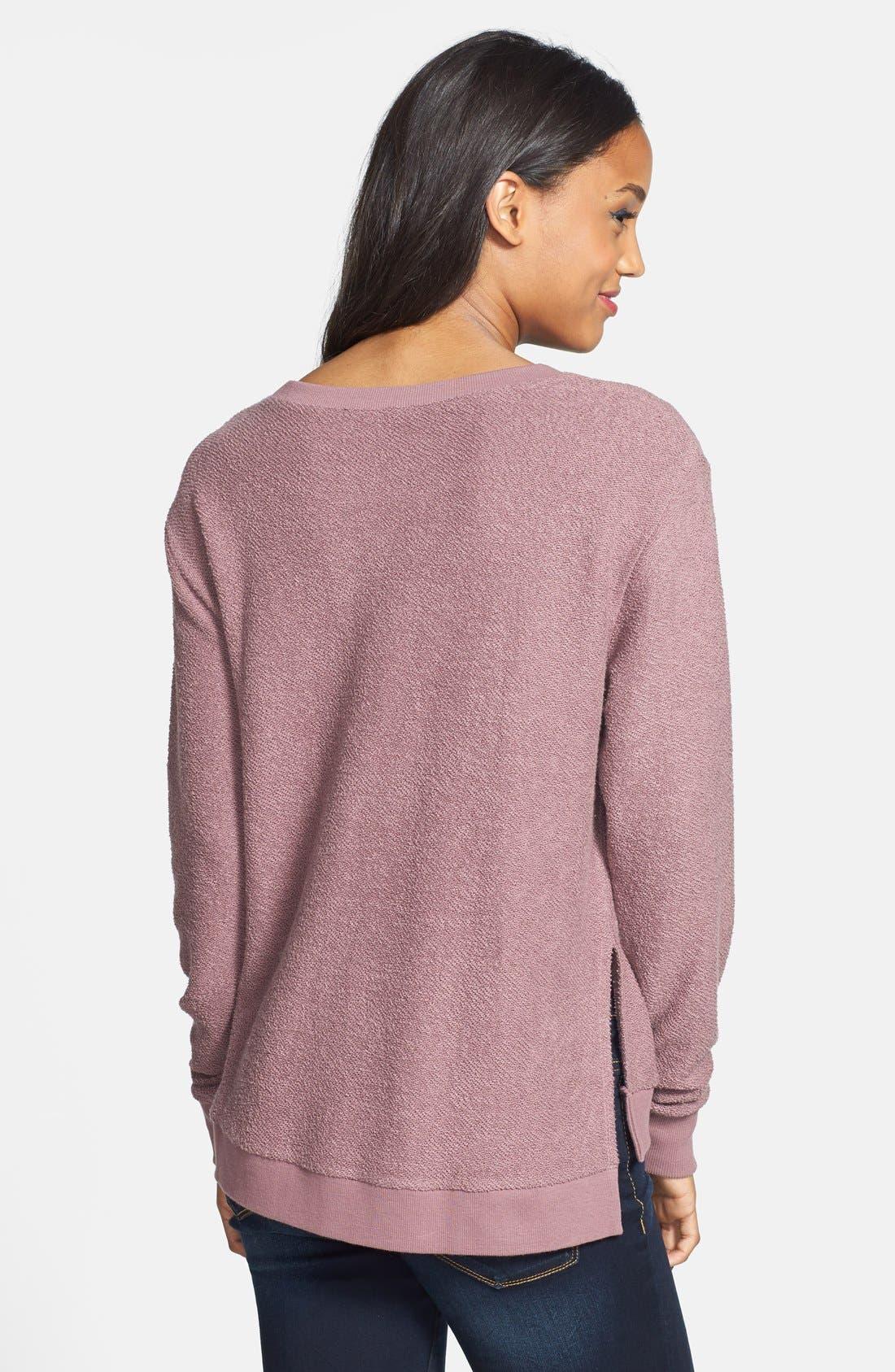 Alternate Image 2  - BP. Side Slit Knit Sweatshirt (Juniors)