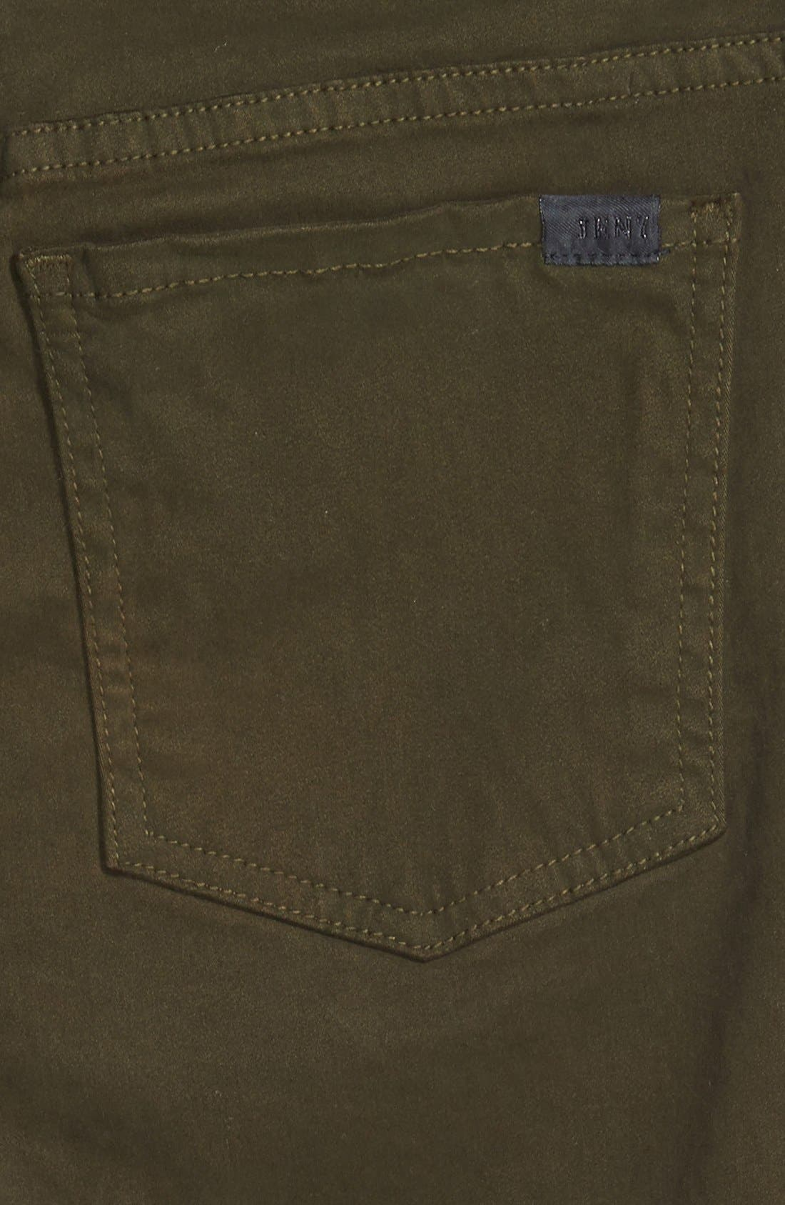 Colored Stretch Denim Skinny Jeans,                             Alternate thumbnail 3, color,                             Olive