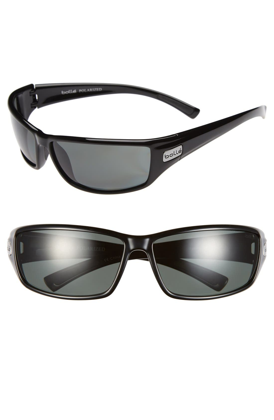 Alternate Image 1 Selected - Bolle 'Python' 70mm Polarized Sport Sunglasses