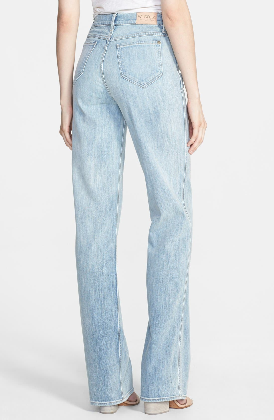 Alternate Image 2  - Wildfox 'Luca' High Rise Straight Leg Jeans (Faithful)