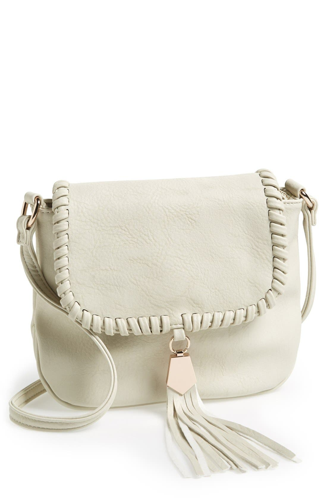 'Arlingtone' Crossbody Bag,                             Main thumbnail 1, color,                             Bone