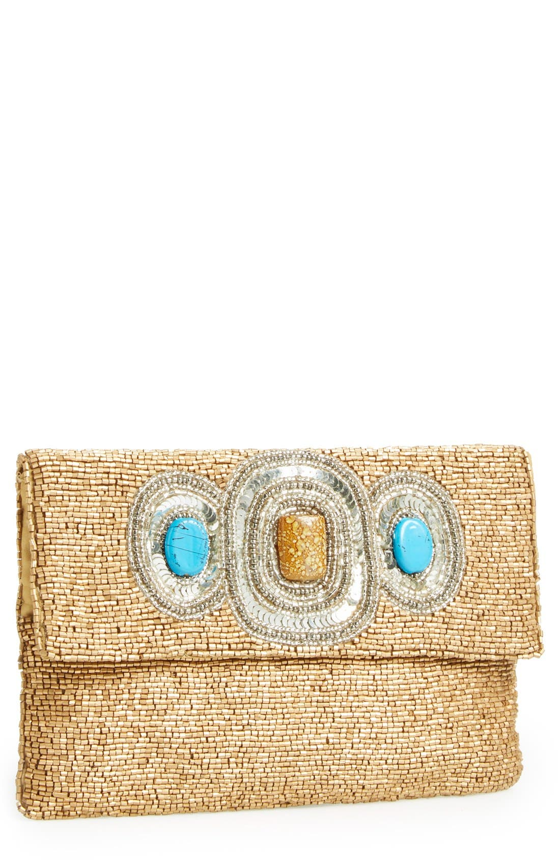 Alternate Image 1 Selected - Big Buddha Beaded Clutch