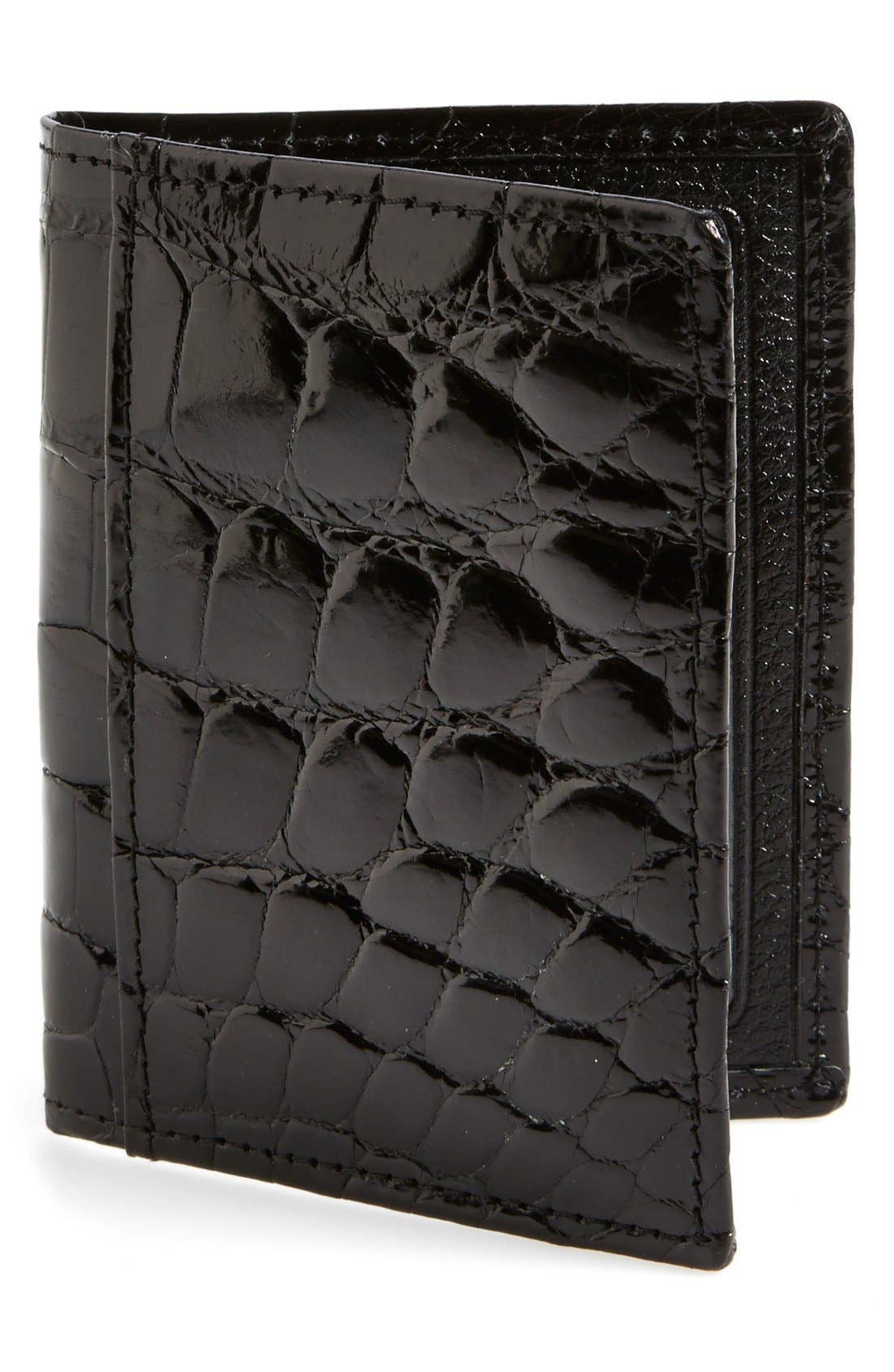 Alternate Image 1 Selected - Martin Dingman 'Joseph' Genuine American Alligator Leather ID Wallet