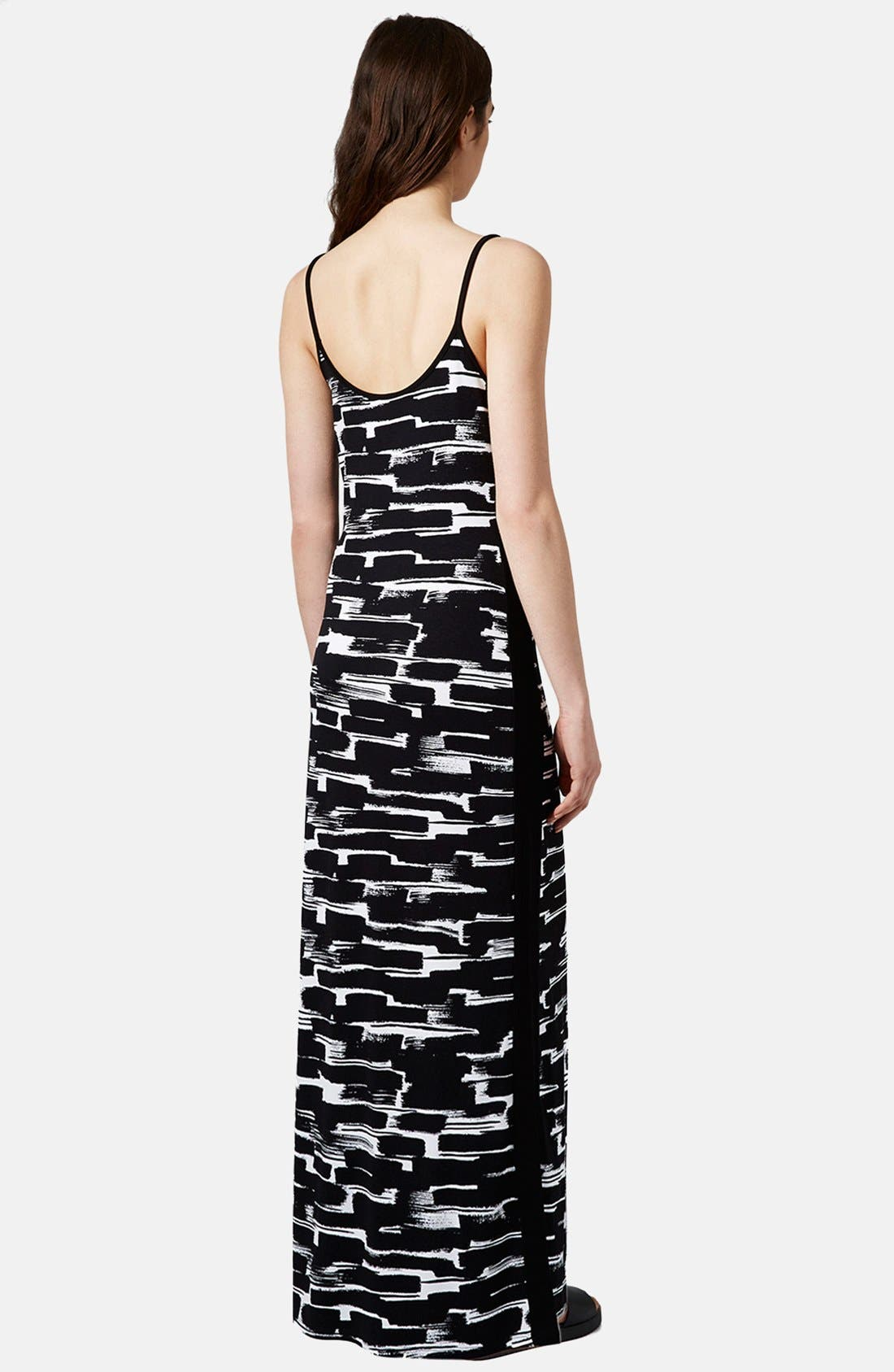 Alternate Image 2  - Topshop Print Cutout Maxi Dress