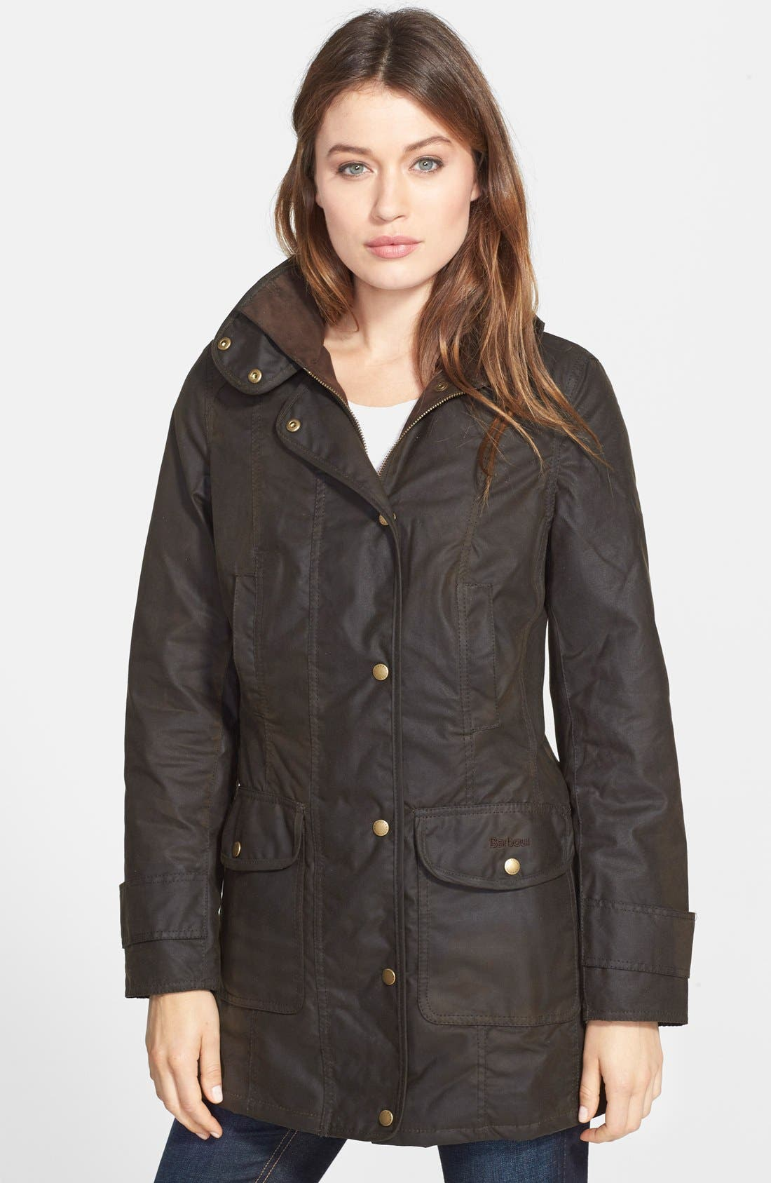Alternate Image 1 Selected - Barbour 'Squire' Waterproof Waxed Cotton Jacket