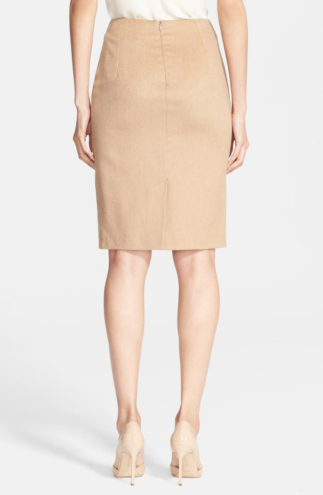 Alternate Image 2  - Max Mara 'Sargano' Camel Hair Pencil Skirt