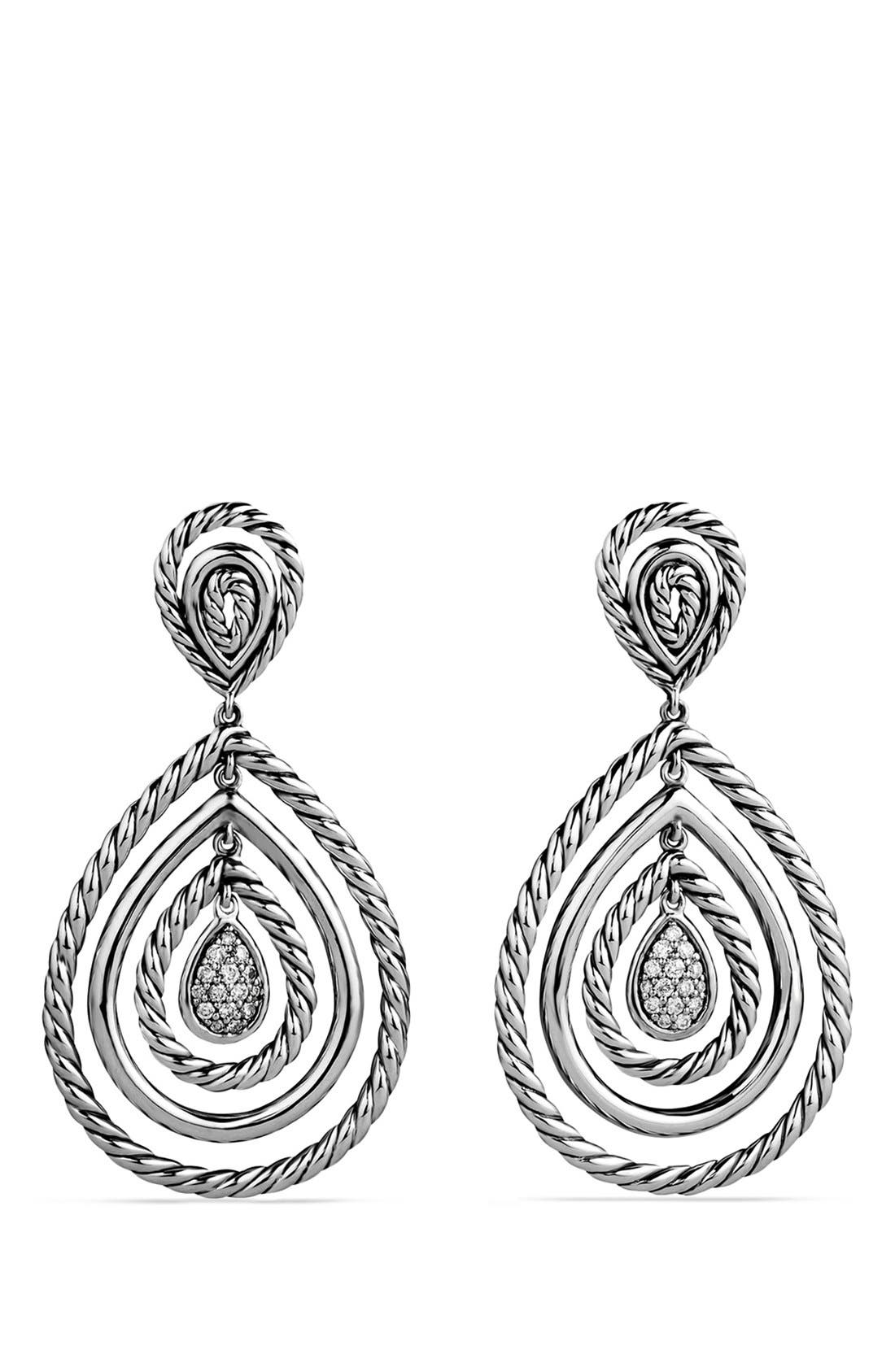 DAVID YURMAN Cable Classics Teardrop Earrings with Diamonds