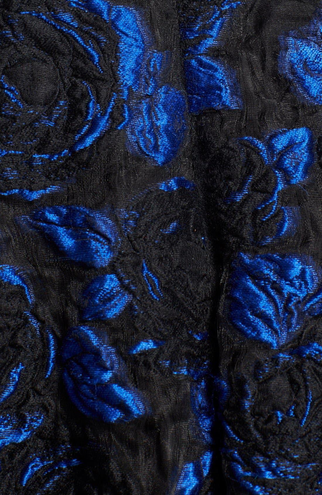 Alternate Image 3  - Oscar de la Renta Jacquard Skirt Fit & Flare Dress