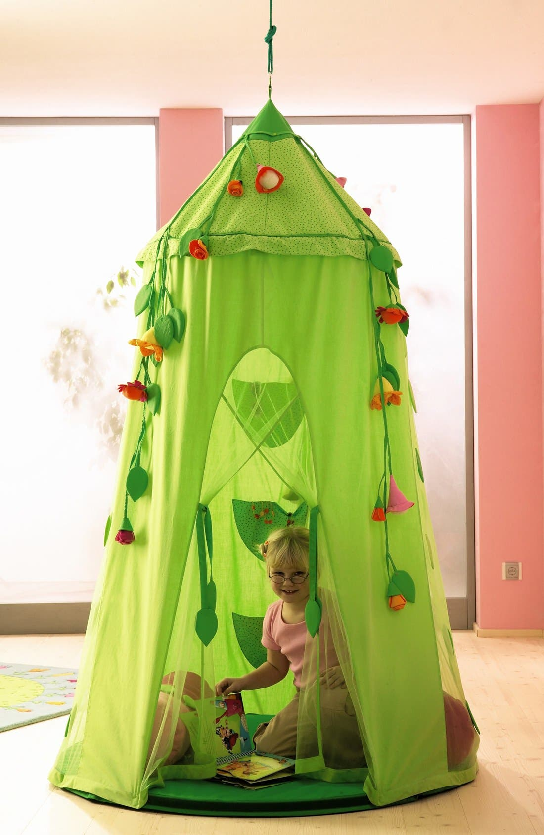 'Blossom Sky' Hanging Play Tent,                             Alternate thumbnail 2, color,                             Green