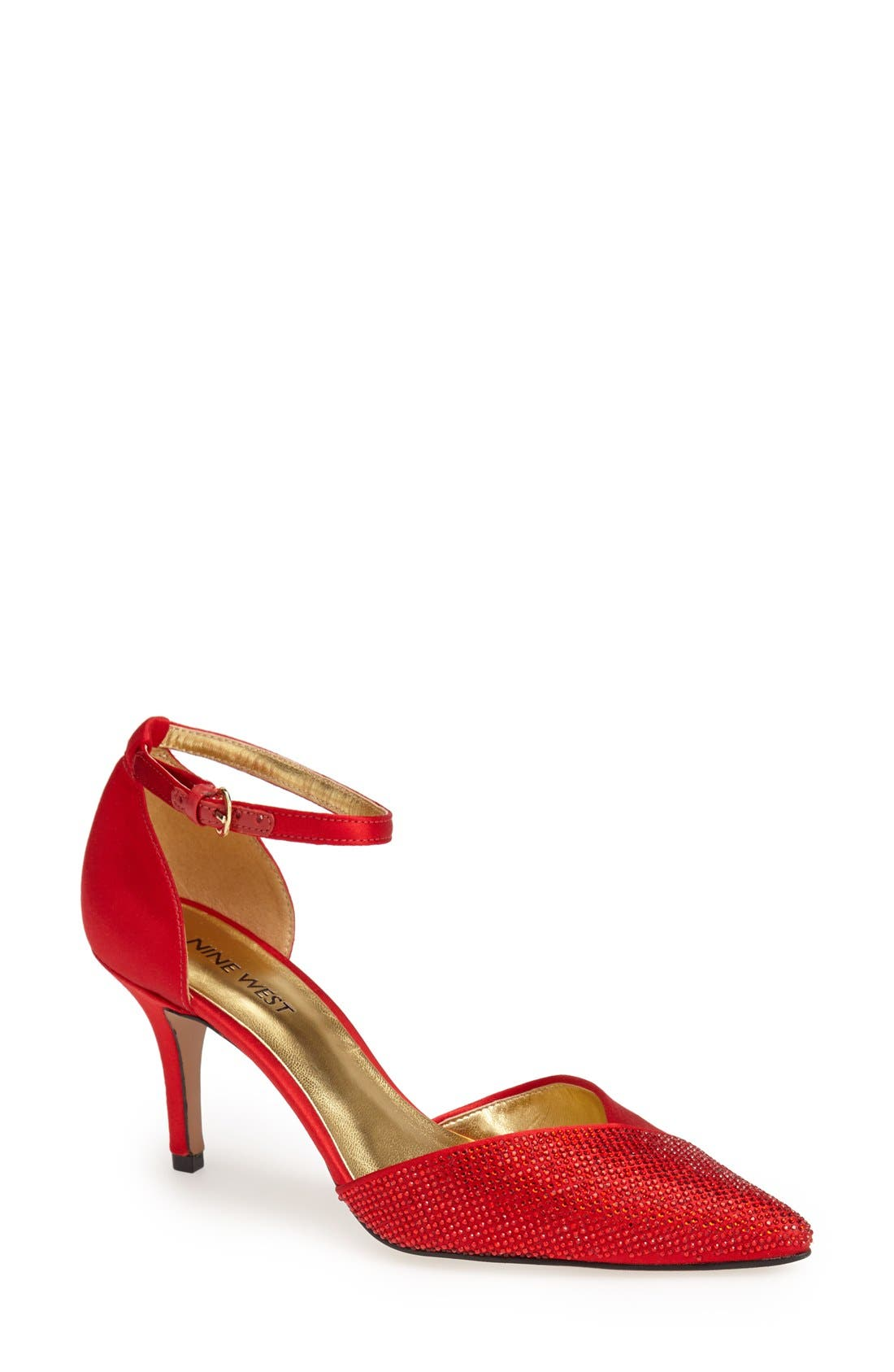 Alternate Image 1 Selected - Nine West 'Knowledge' Pointy Toe Satin Pump (Women)