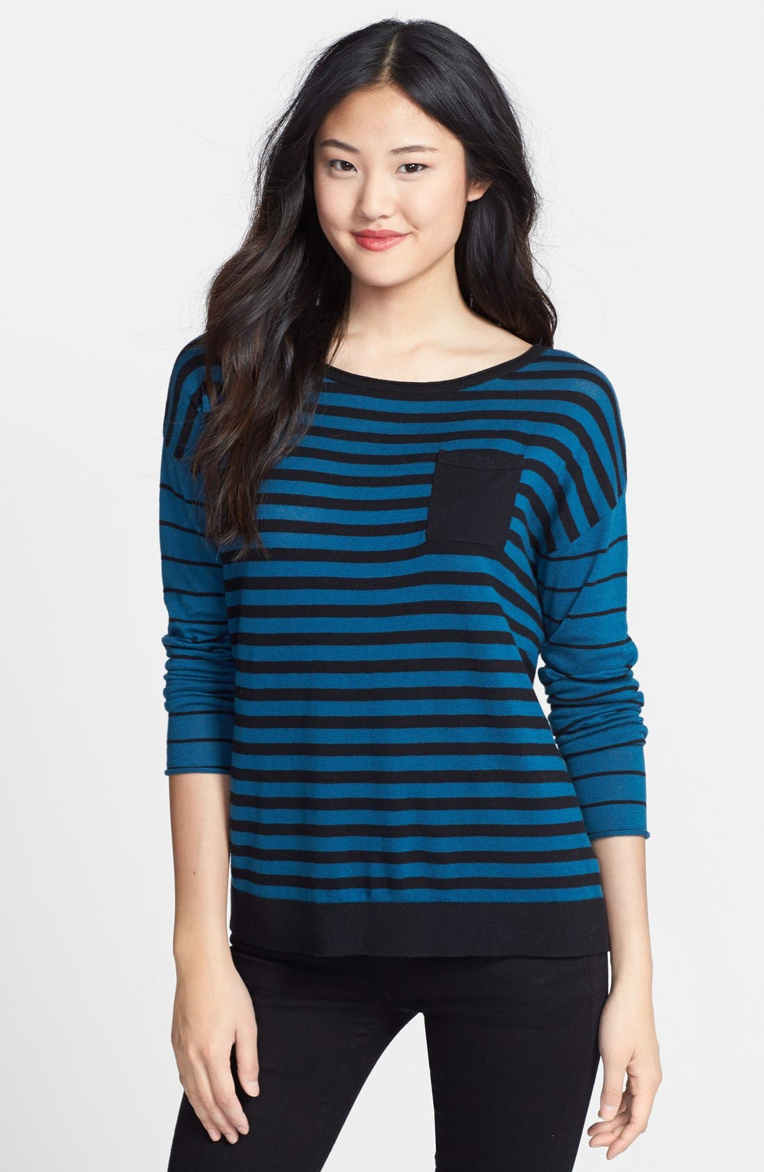 CASLON<SUP>®</SUP> Patterned Long Sleeve Sweater