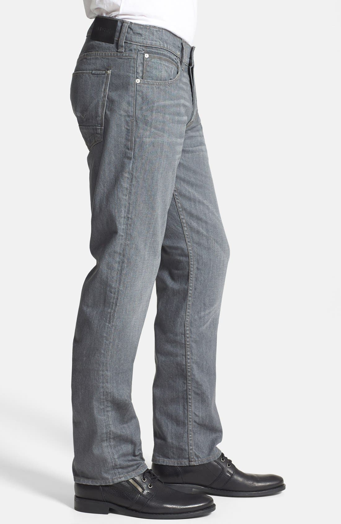 Alternate Image 3  - Hudson Jeans 'Byron' Straight Leg Jeans (Grey Rider)