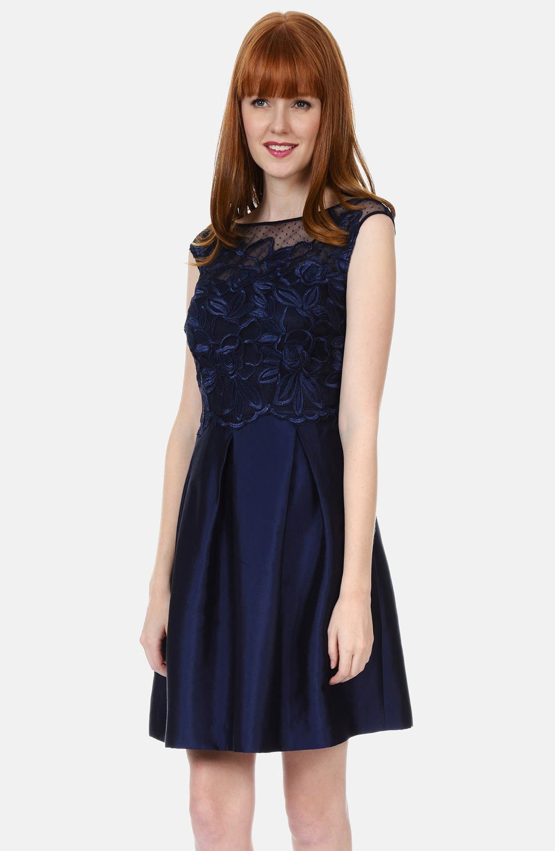 Alternate Image 1 Selected - Kay Unger Lace Bodice Dress