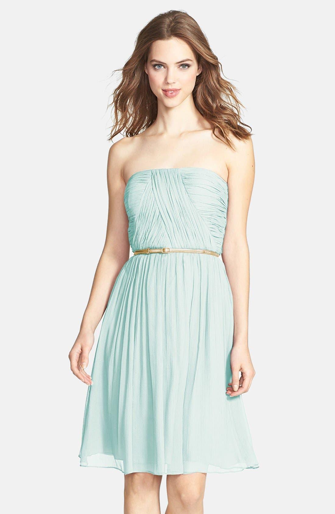 Main Image - Donna Morgan 'Donna' Belted Chiffon Dress