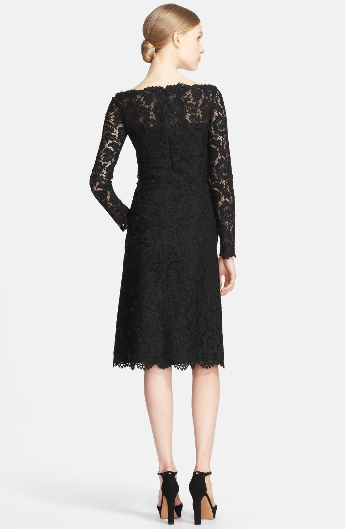 Alternate Image 2  - Valentino Bateau Neck Lace Dress