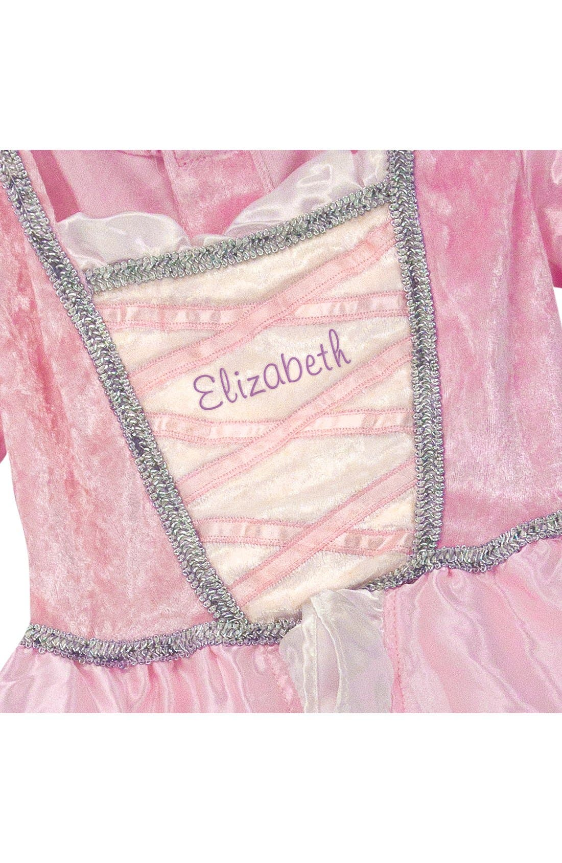 Personalized Princess Costume,                             Alternate thumbnail 3, color,                             Pink