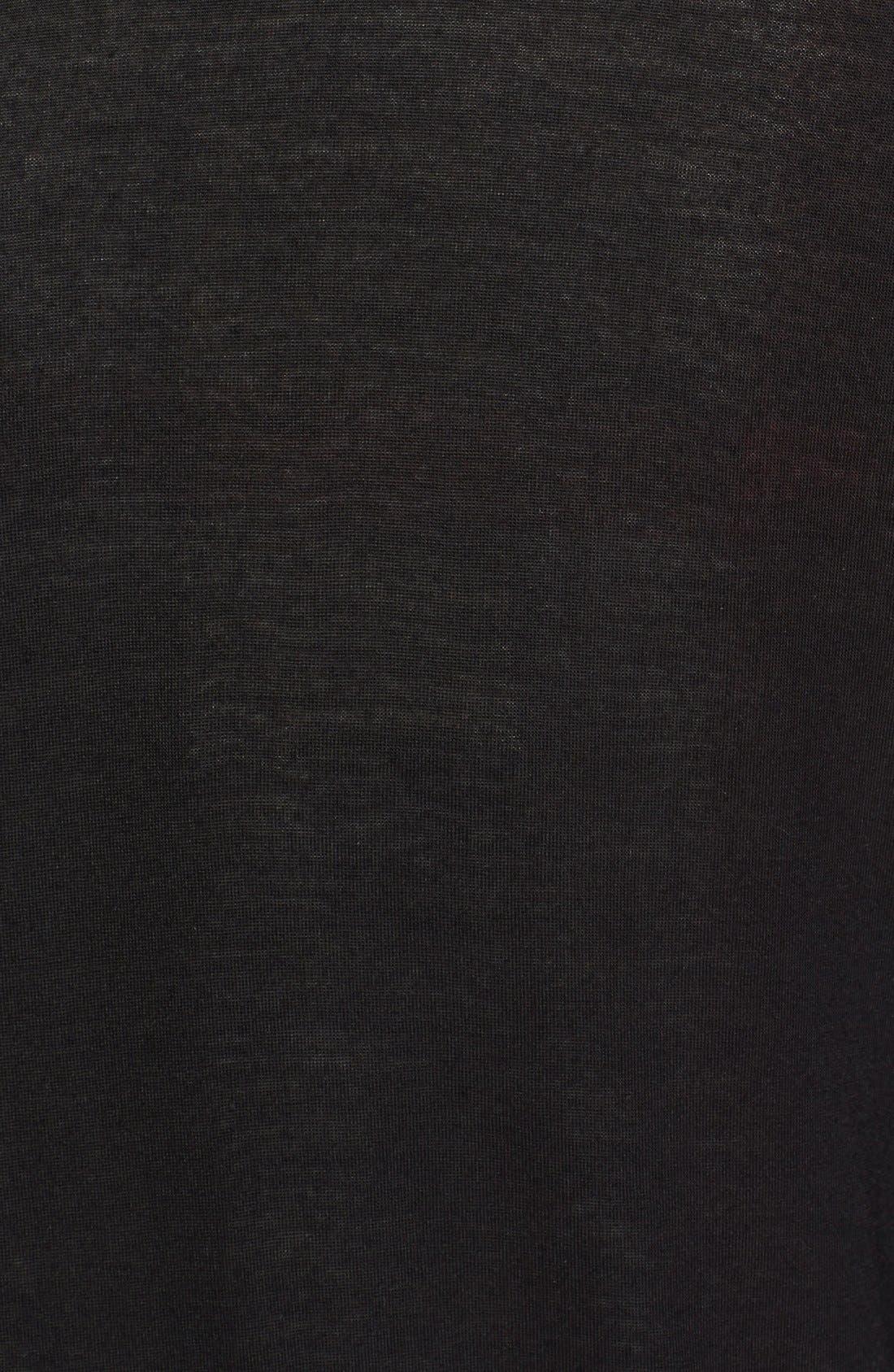 Alternate Image 3  - Burberry Brit Check Detail Drape Front Cardigan
