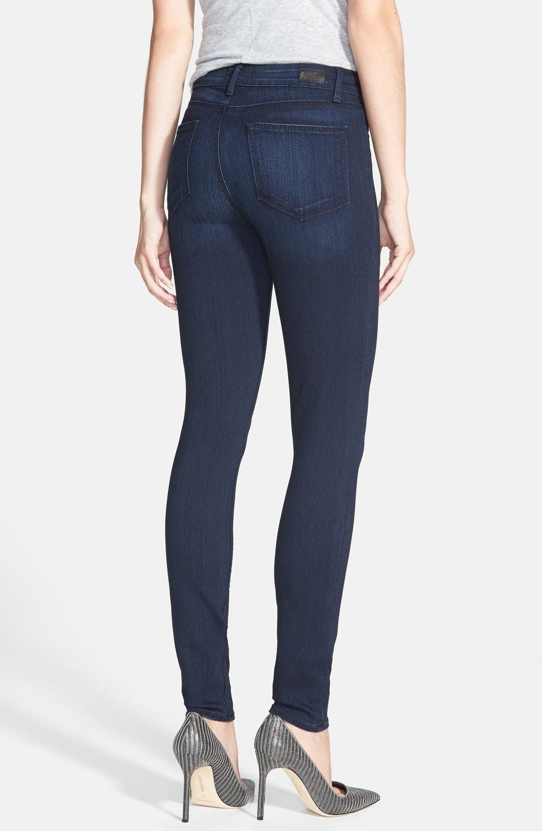Denim 'Transcend - Hoxton' High Rise Ultra Skinny Jeans,                             Alternate thumbnail 2, color,                             Mae