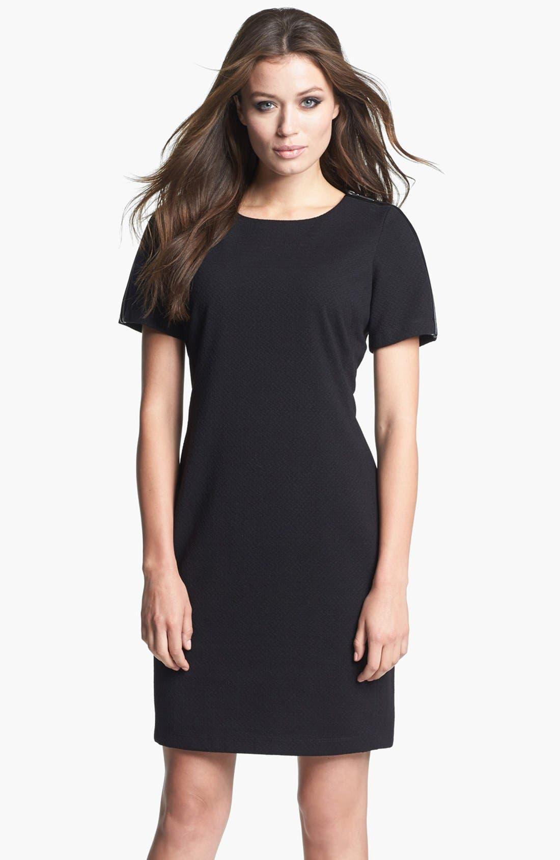 Main Image - Donna Ricco Zipper Detail Sheath Dress