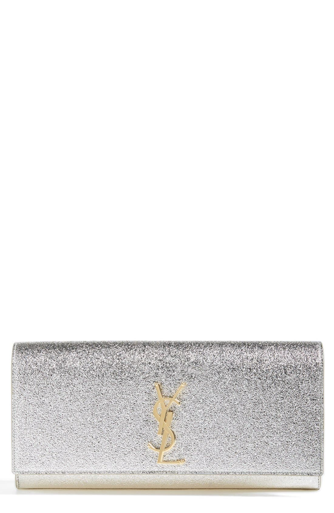 Alternate Image 1 Selected - Saint Laurent 'Cassandre' Leather Clutch