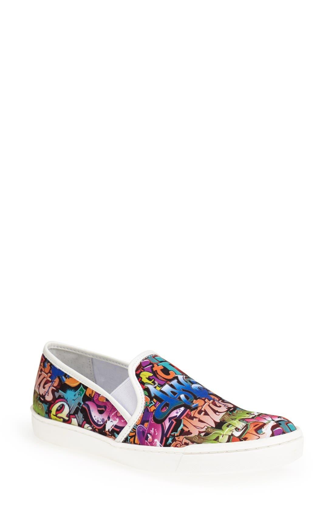 Alternate Image 1 Selected - Steve Madden 'Ecentrcm' Graffiti Print Slip-On Sneaker (Women)