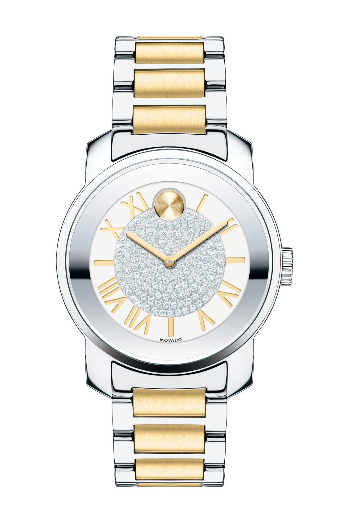Main Image - Movado 'Bold' Crystal Dial Bracelet Watch, 32mm