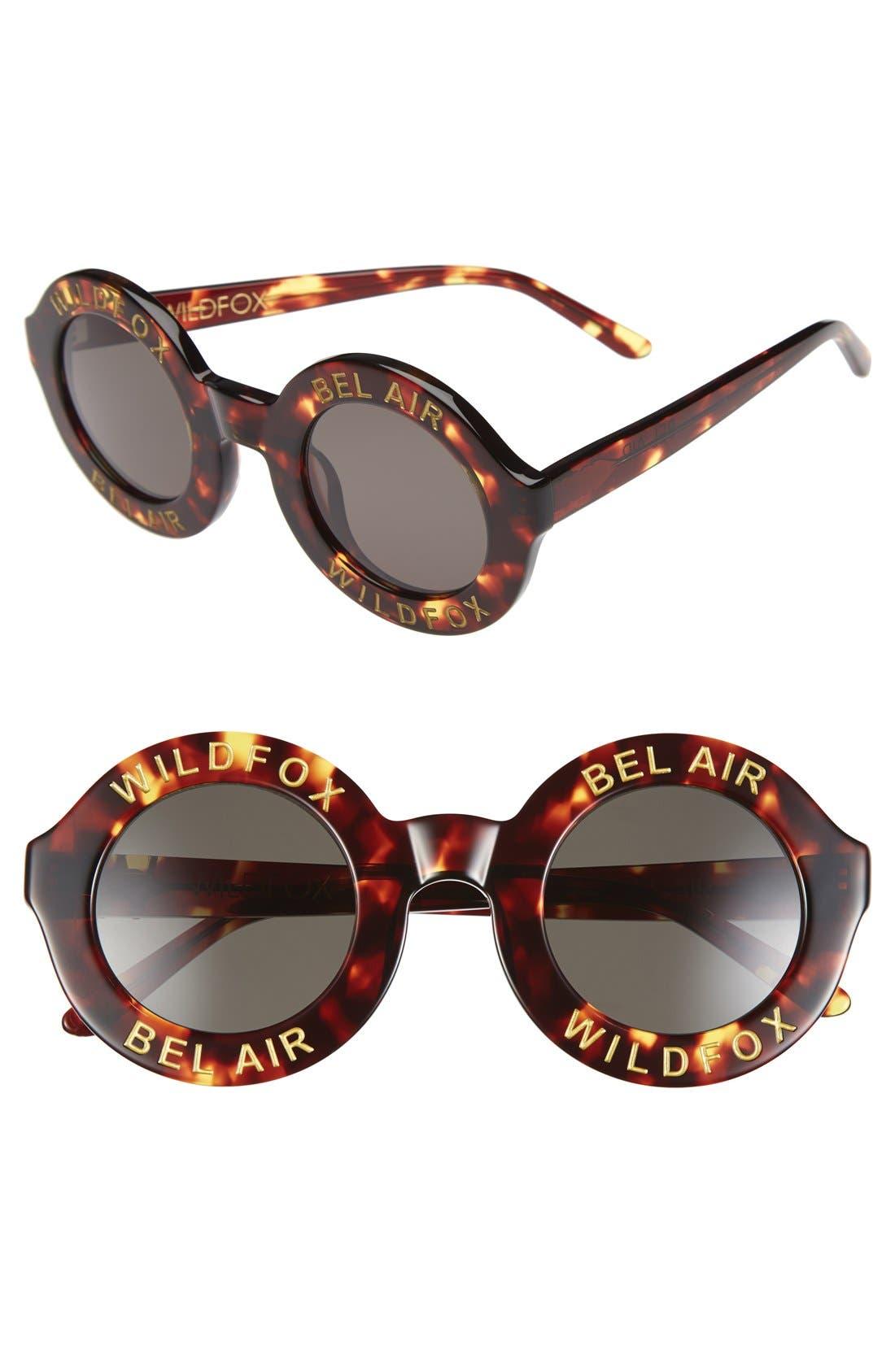 'Bel Air' 44mm Sunglasses,                             Main thumbnail 1, color,                             Tokyo Tortoise