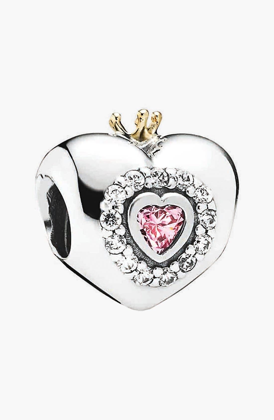 Main Image - PANDORA 'Princess Heart' Bead Charm