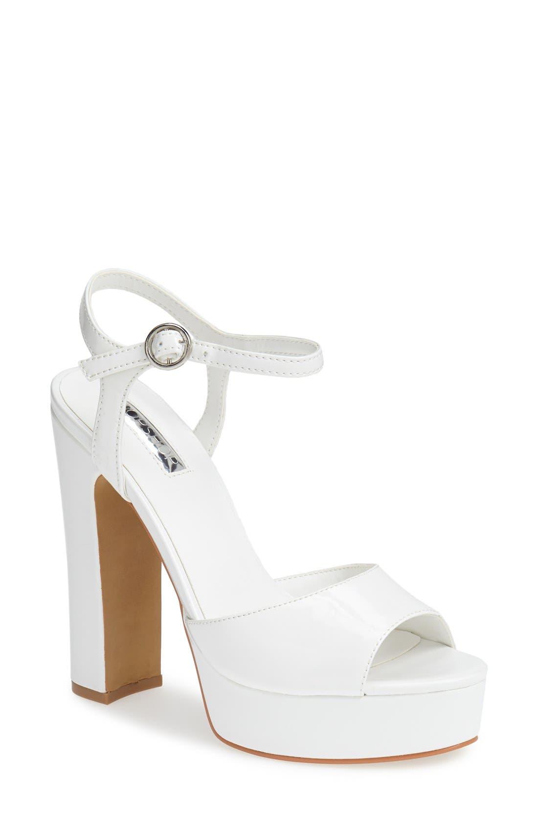 Alternate Image 1 Selected - Topshop 'Luther' Platform Sandal (Women)
