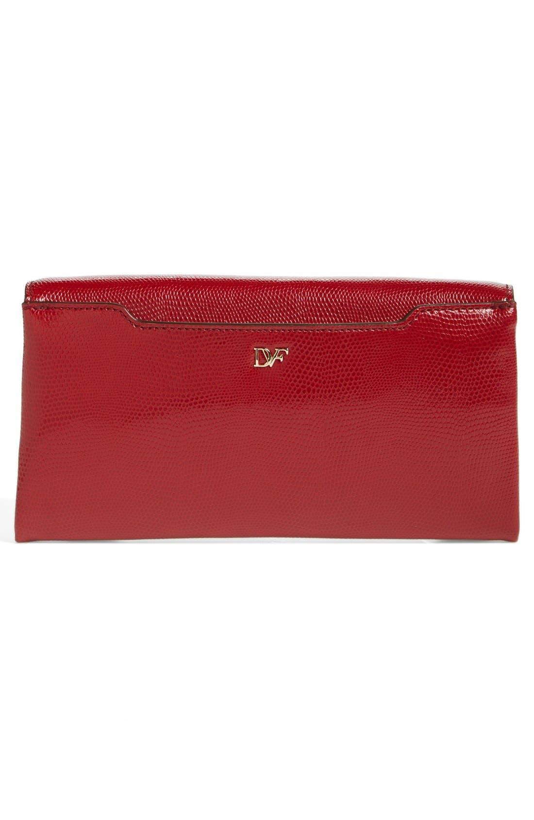 Alternate Image 4  - Diane von Furstenberg '440' Embossed Leather Envelope Clutch