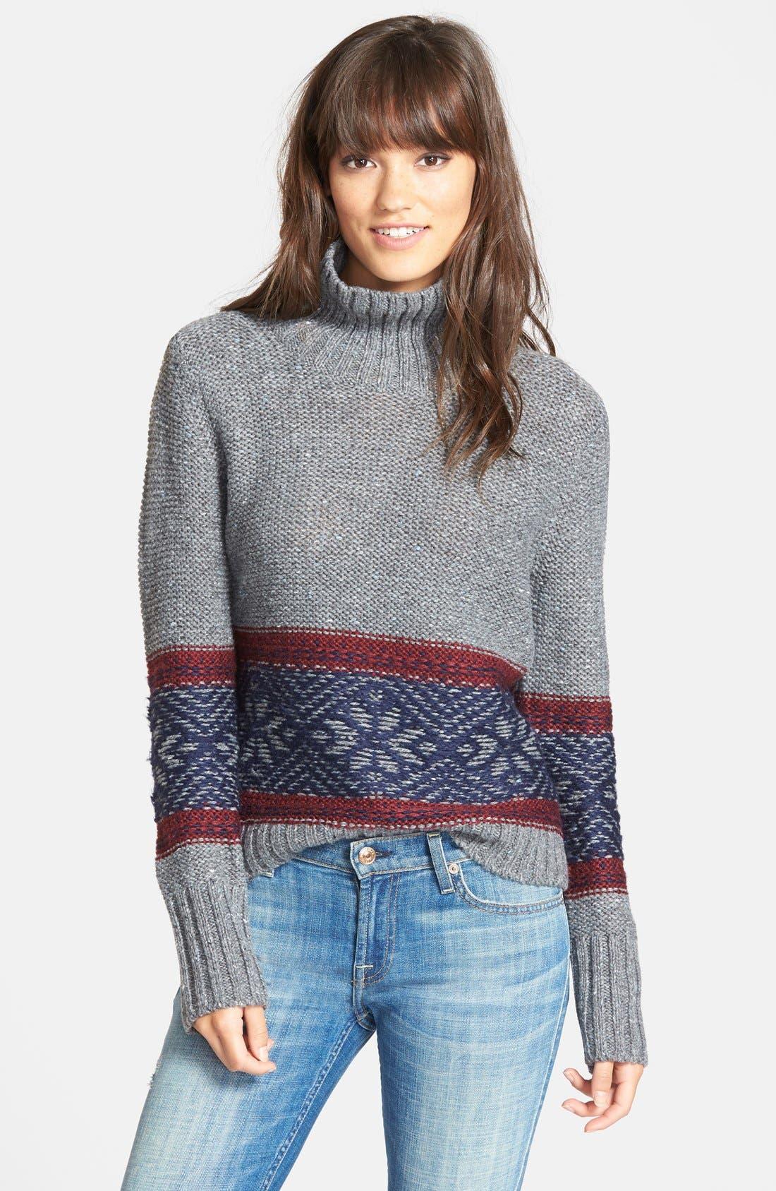 Treasure&Bond Fair Isle Funnel Neck Sweater | Nordstrom