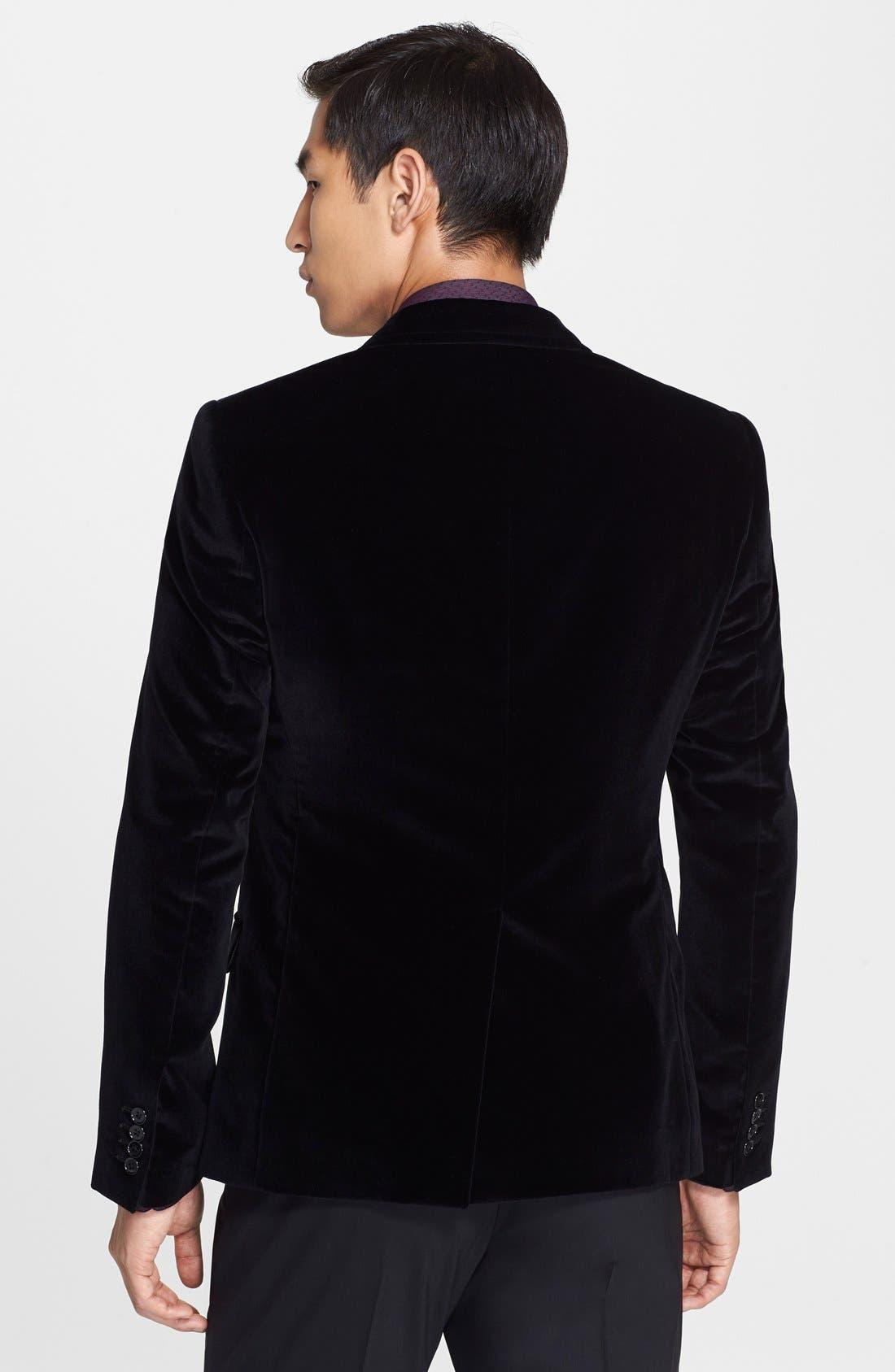 Alternate Image 2  - Dolce&Gabbana 'Martini' Velvet Sport Coat