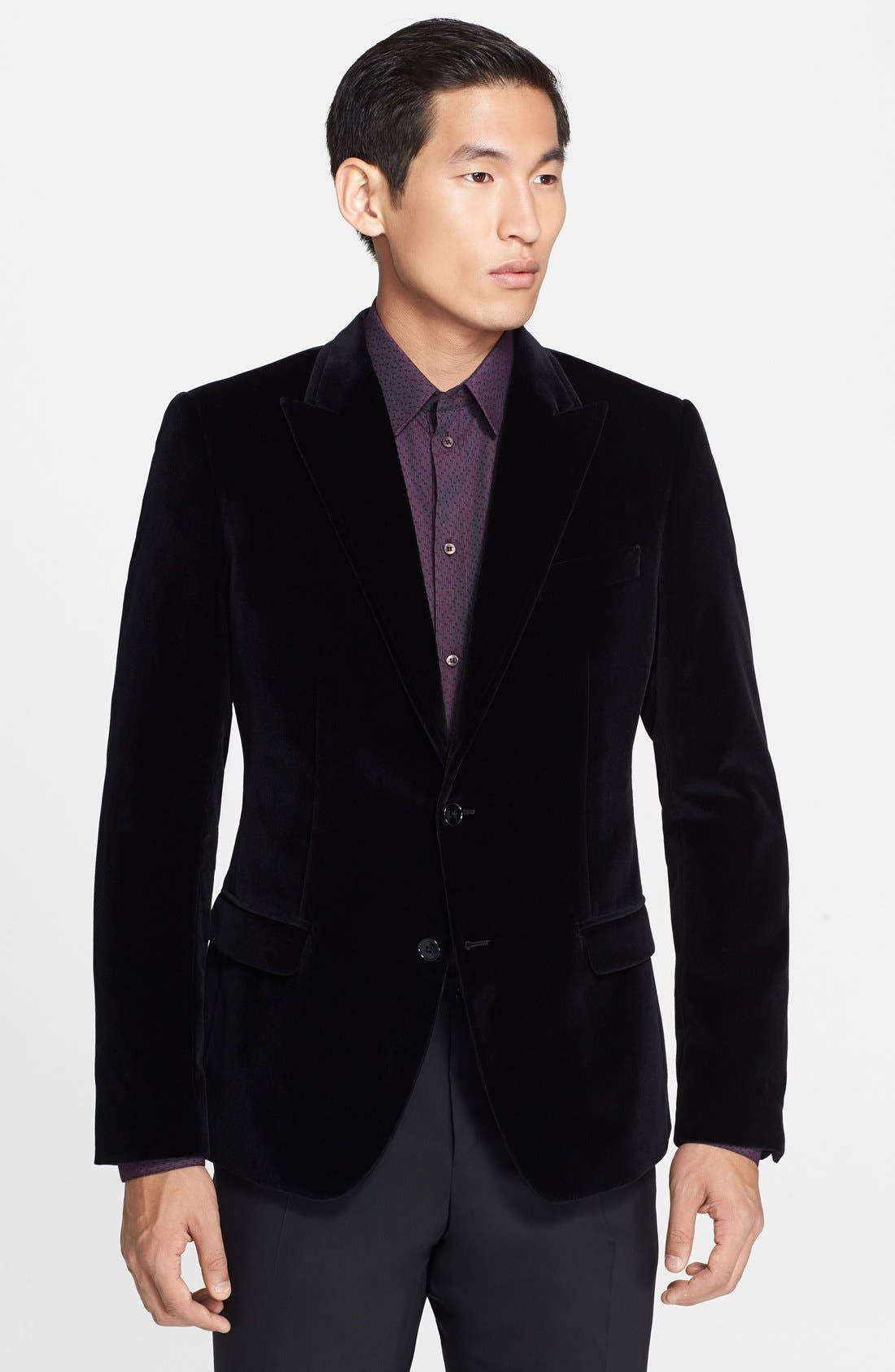Alternate Image 1 Selected - Dolce&Gabbana 'Martini' Velvet Sport Coat